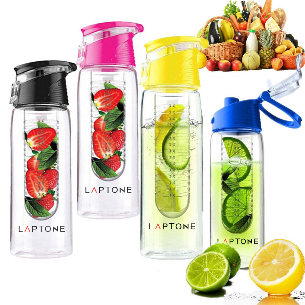 FRUIT INFUSION INFUSING INFUSER DRINK WATER BOTTLE SPORTS GYM HEALTH MAKER 800ML