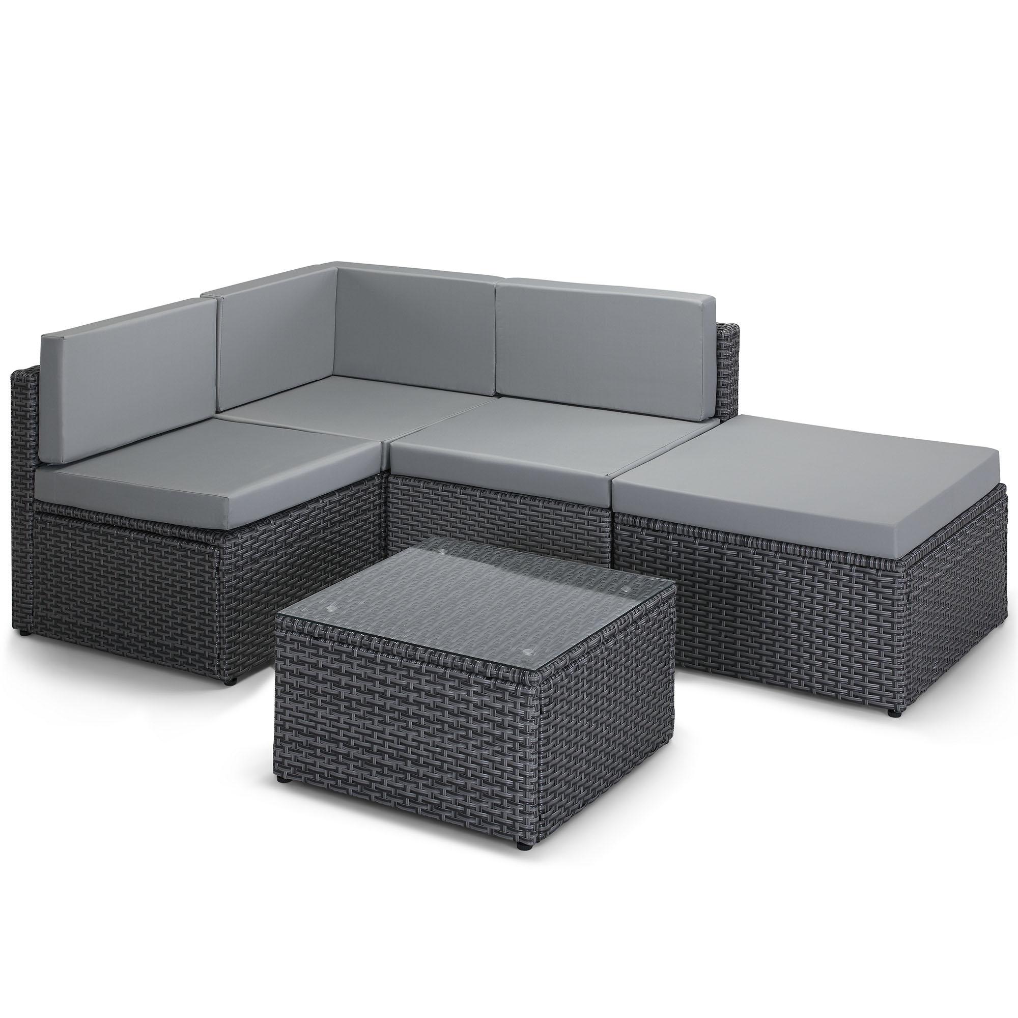 L Shaped Outdoor Sofa Rattan L Shape Sofa Set Garden ...