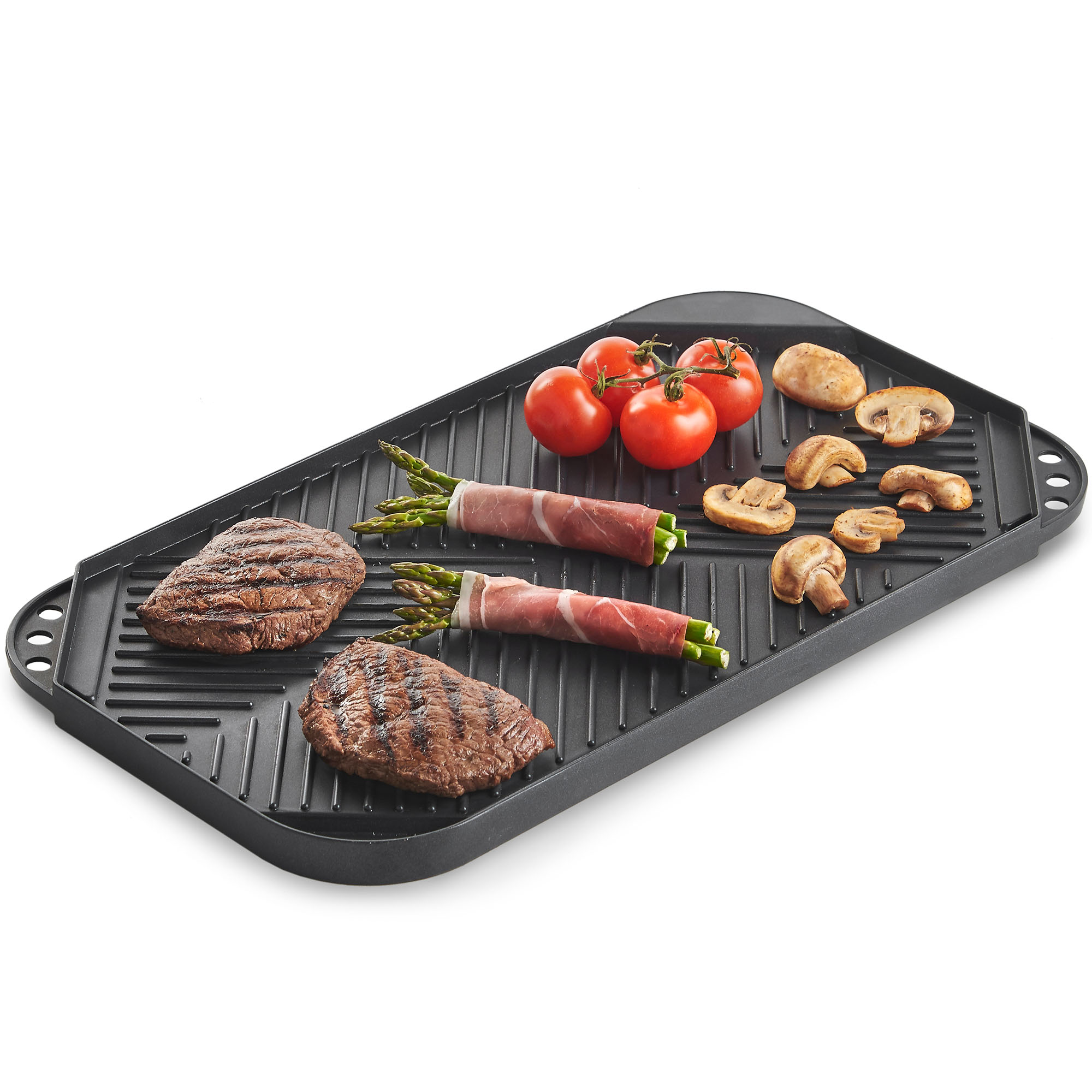 Vonshef Reversible Crepiere Plate Pan Aluminium Double Sided Grill