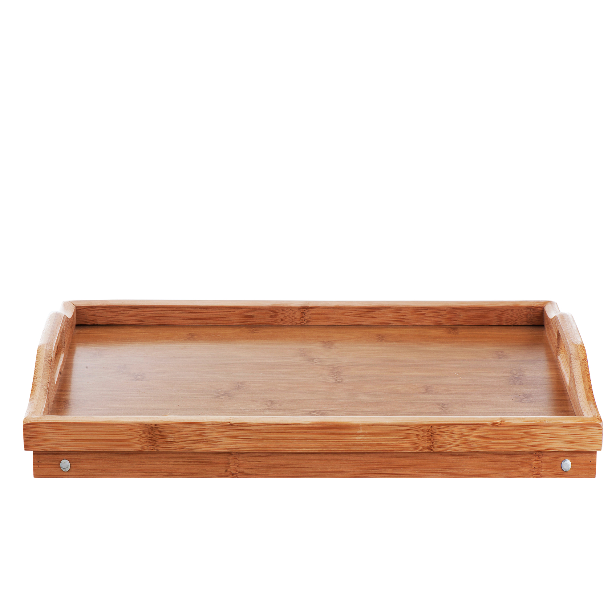 Sentinel Portable Wooden Bamboo Food Serving Breakfast In Bed Lap Tray Folding Legs