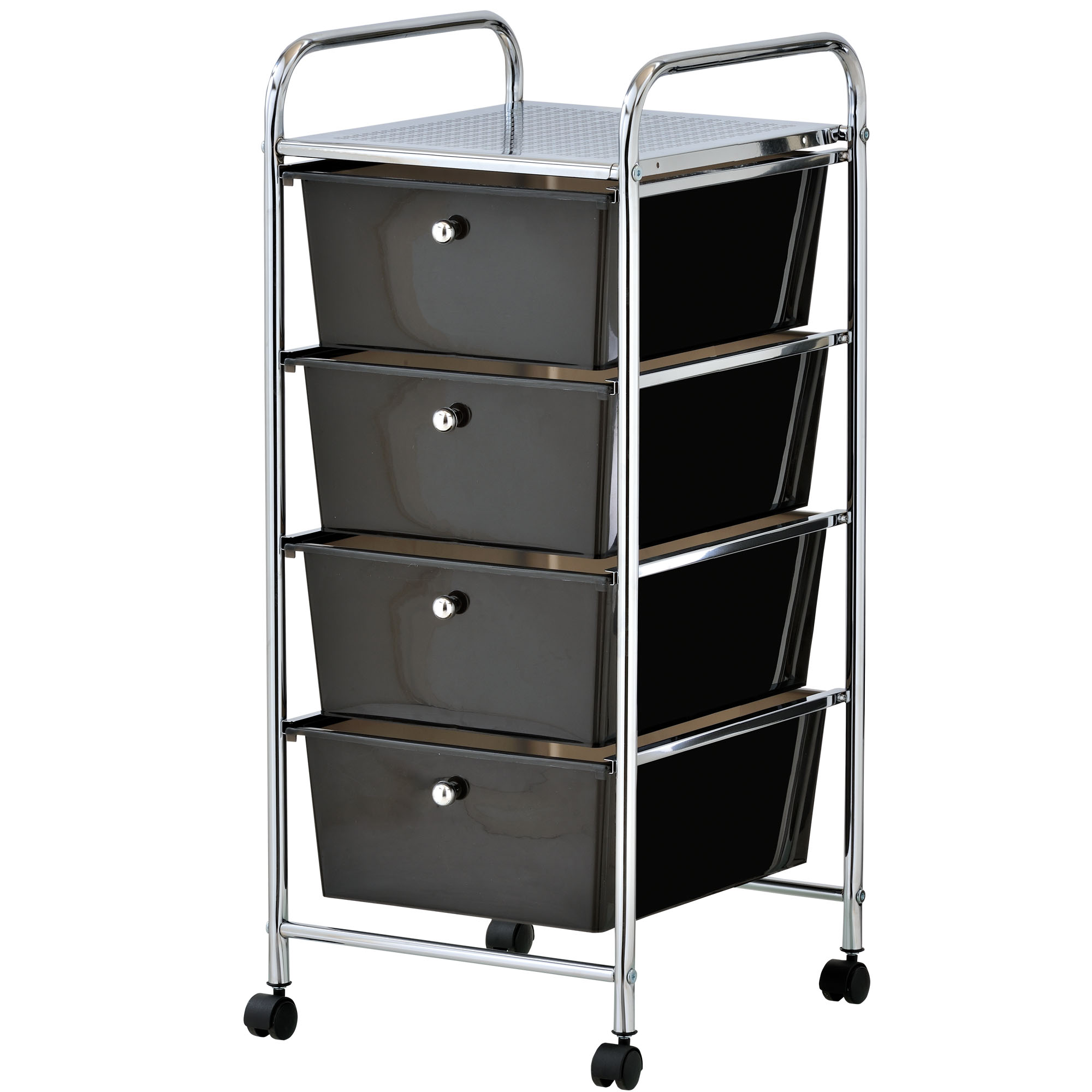 VonHaus 4 Drawer Mobile Storage Trolley for Home Office or ...