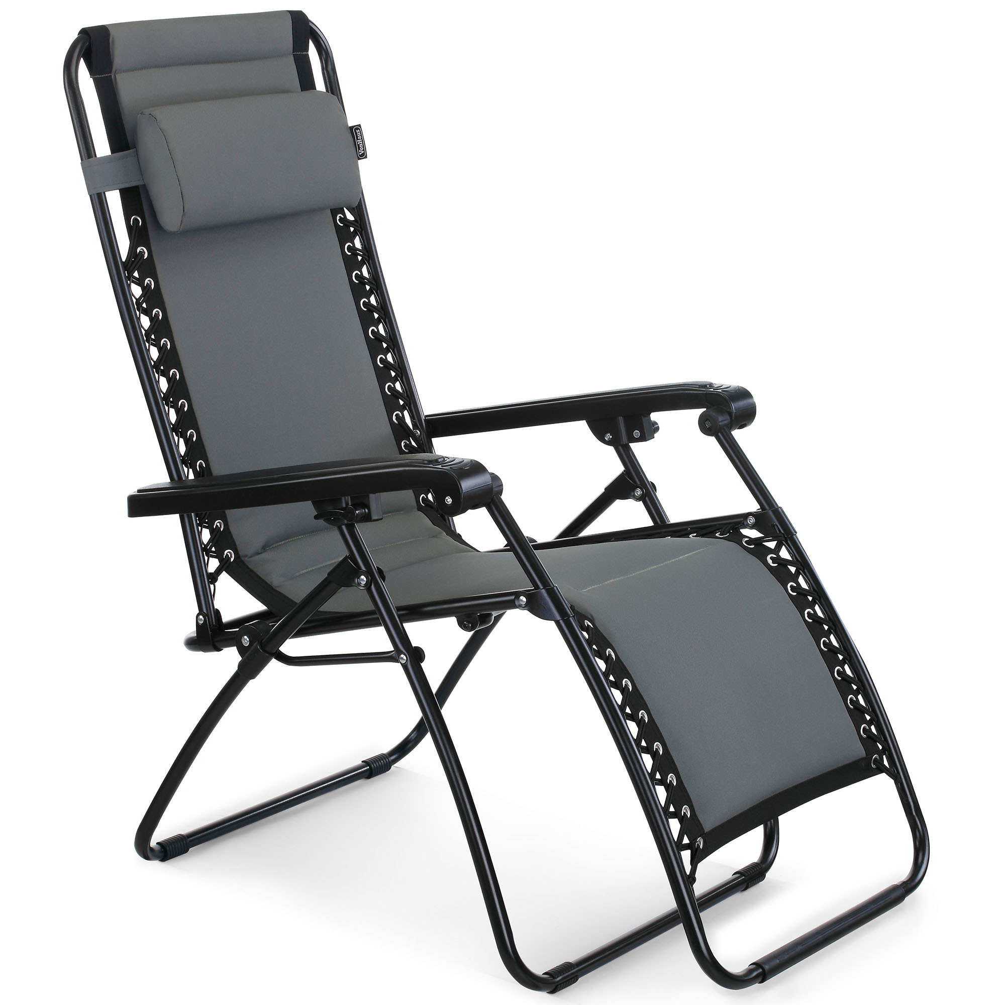 Vonhaus Padded Zero Gravity Chair Outdoor Garden Patio Sun Lounger Recliner Ebay