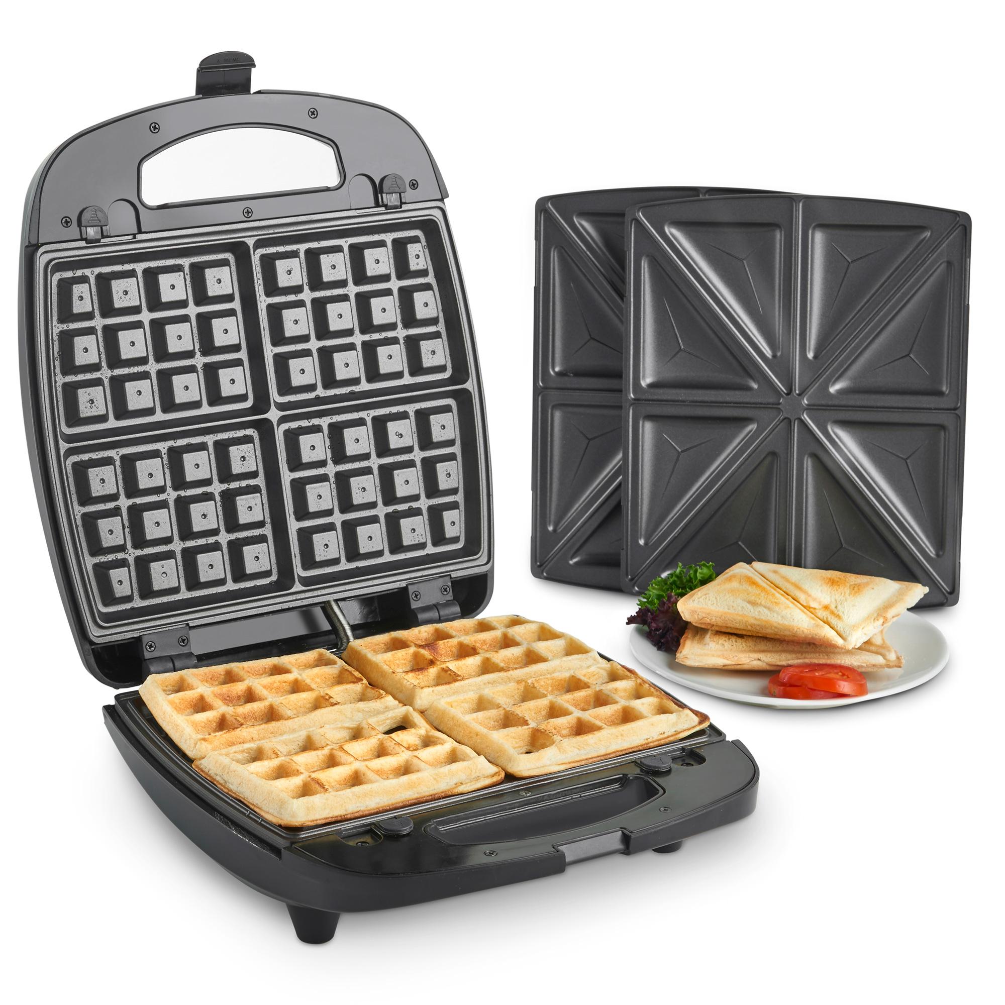 vonshef sandwich toaster waffle maker 2 in 1 toastie. Black Bedroom Furniture Sets. Home Design Ideas