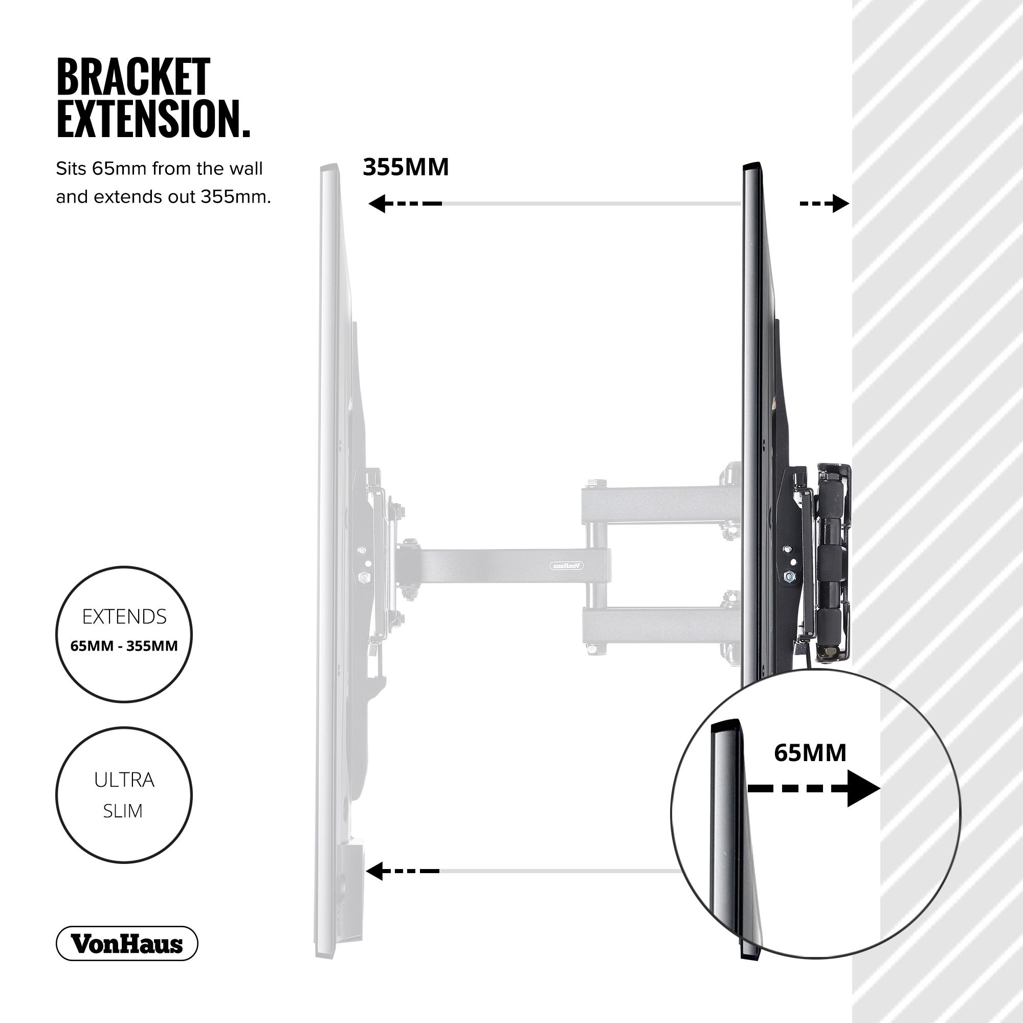 Vonhaus 23 56 Quot Double Arm Tilt Amp Swivel Tv Wall Mount