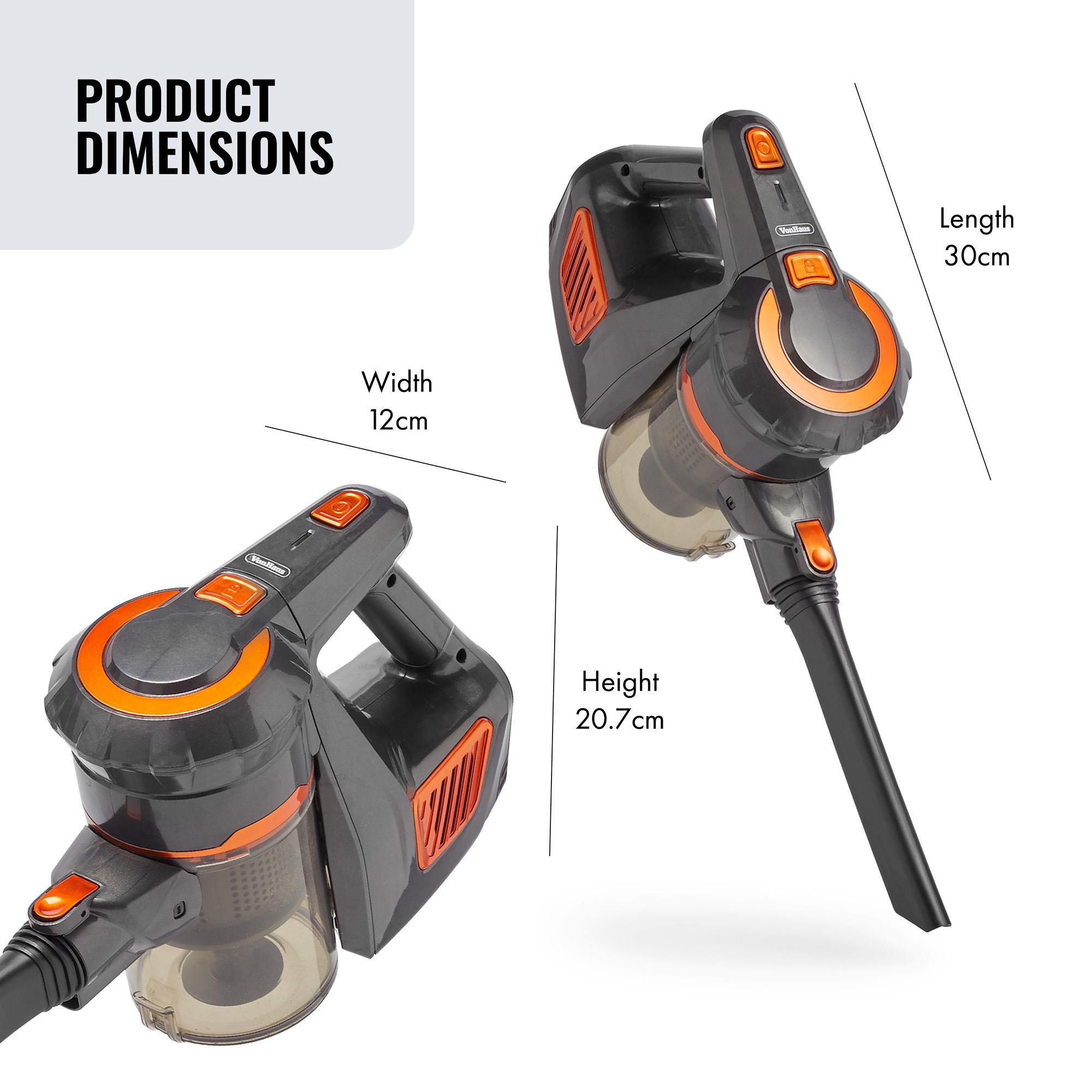 Vonhaus 2 In 1 Cordless Handheld Vacuum Cleaner Grey