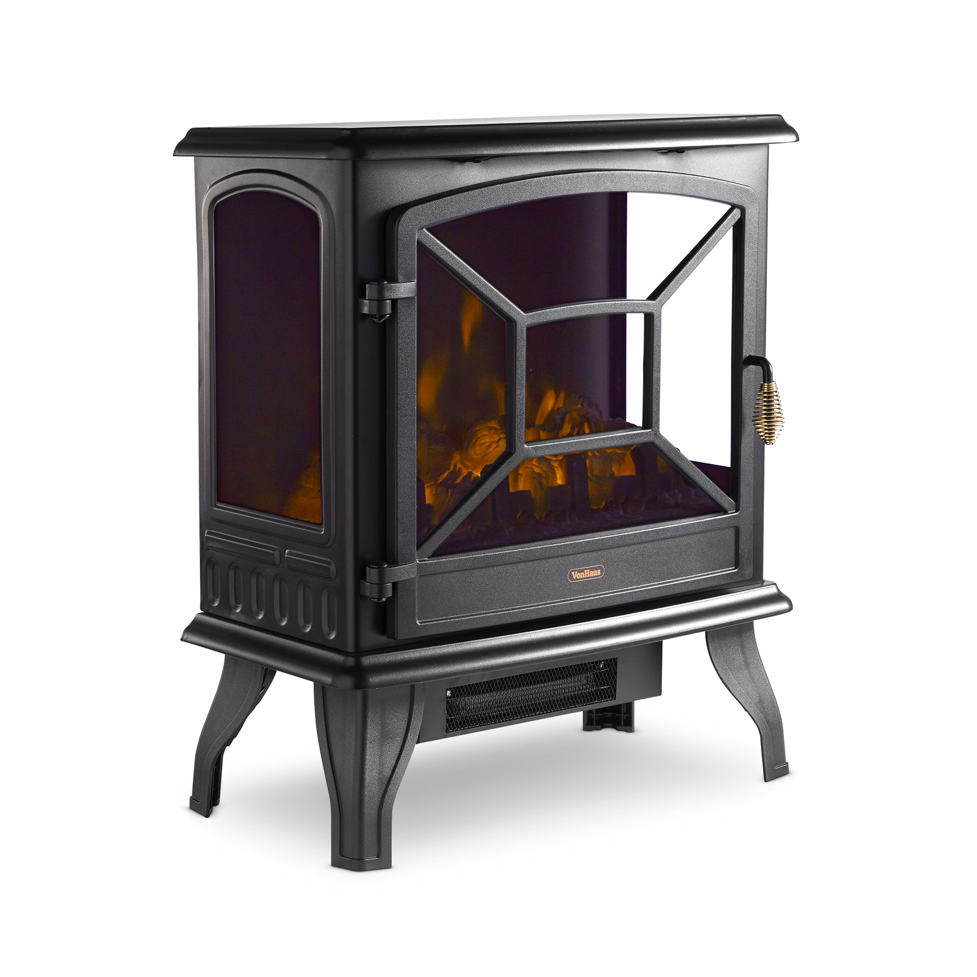 Vonhaus Panoramic Electric Stove Heater Fireplace Fire