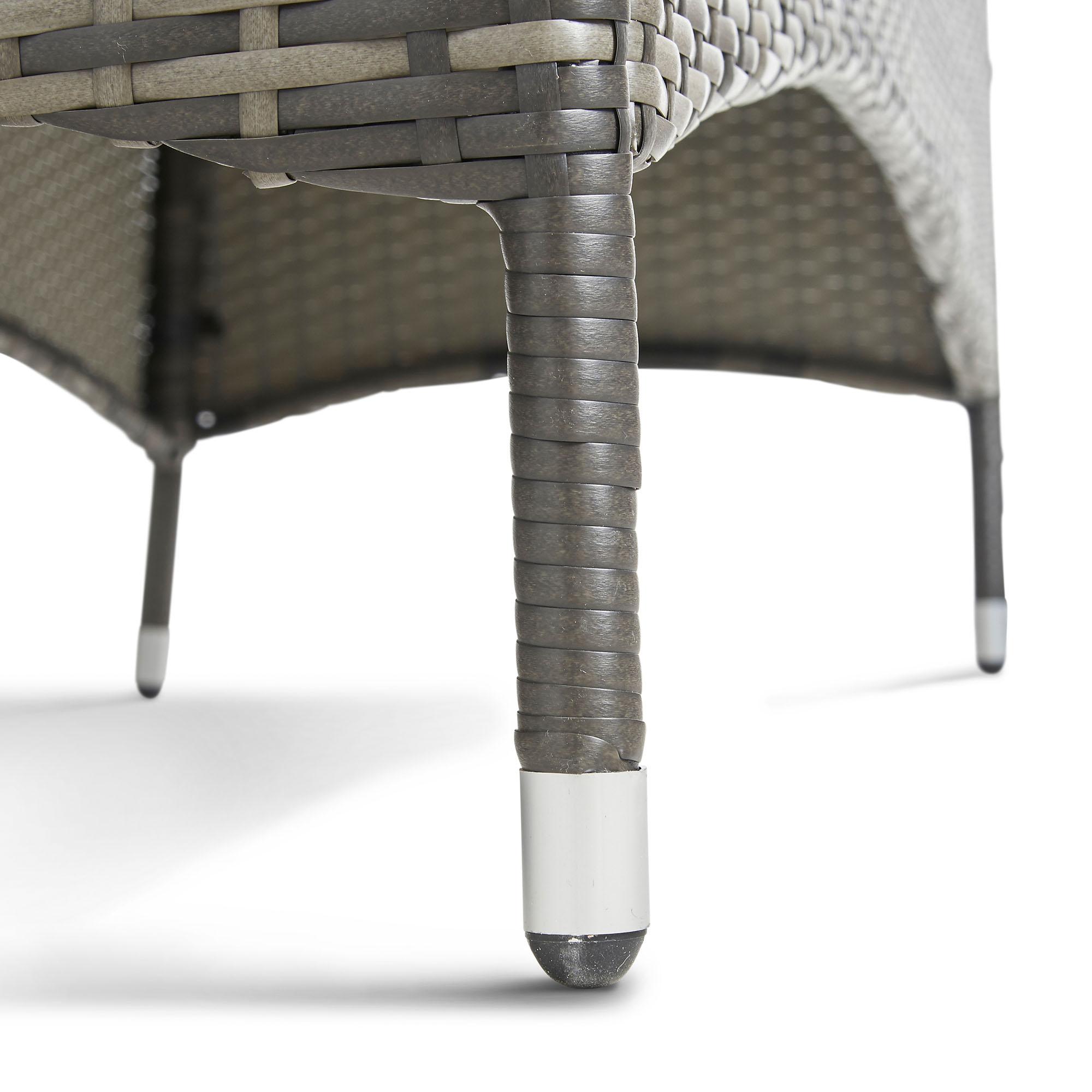 Vonhaus Rattan Loveseat Bench Outdoor Companion Seat For
