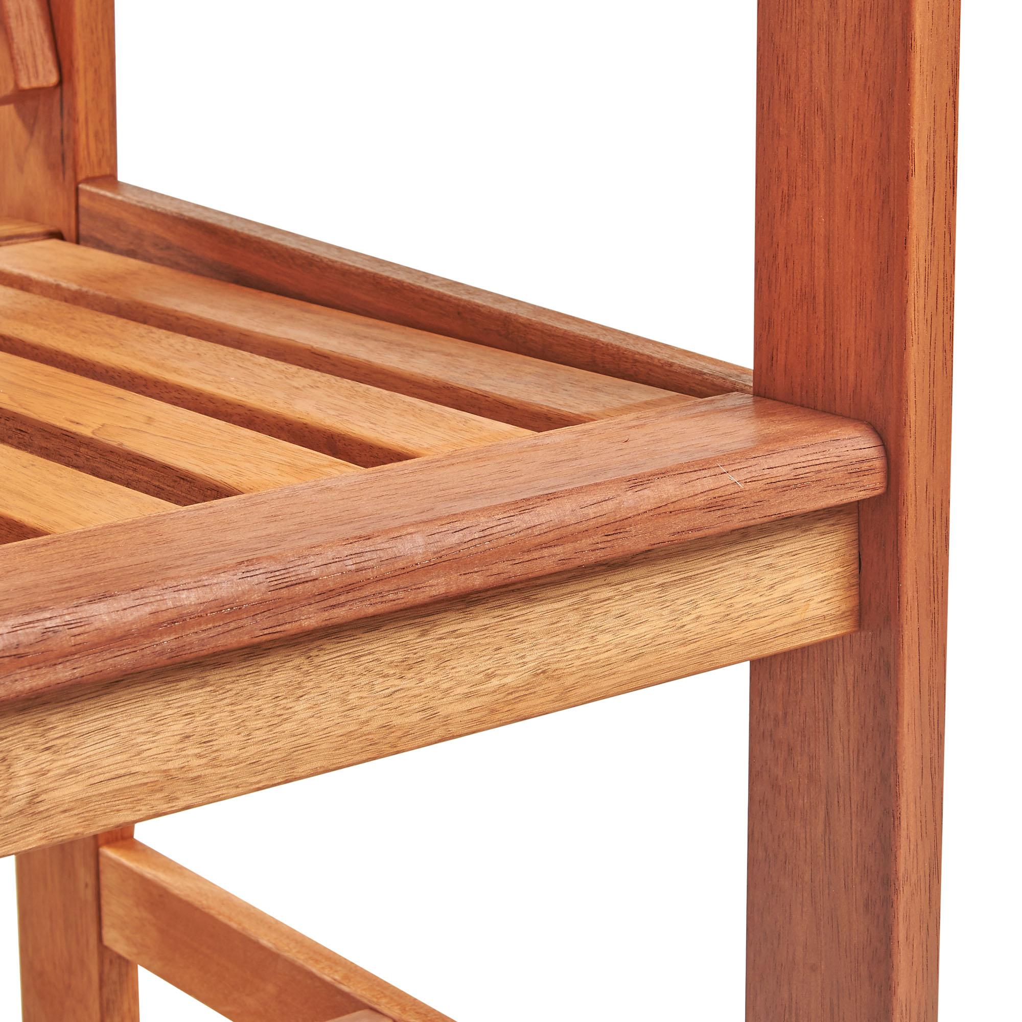 VonHaus Garden Bench   Medium 2 Seater Wooden Outdoor ...
