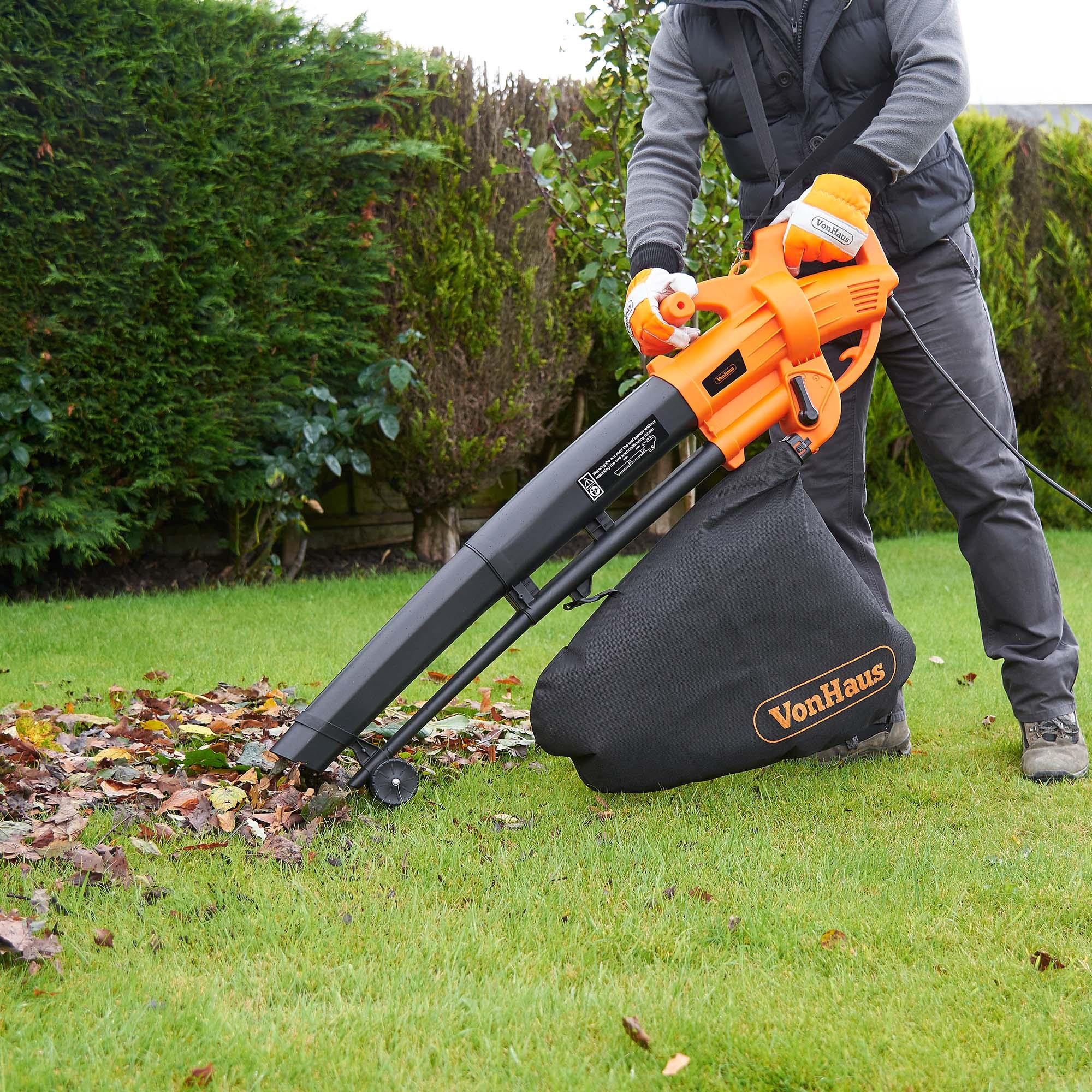 Vonhaus 3 In 1 Leaf Blower Garden Vacuum Amp Mulcher 2600w