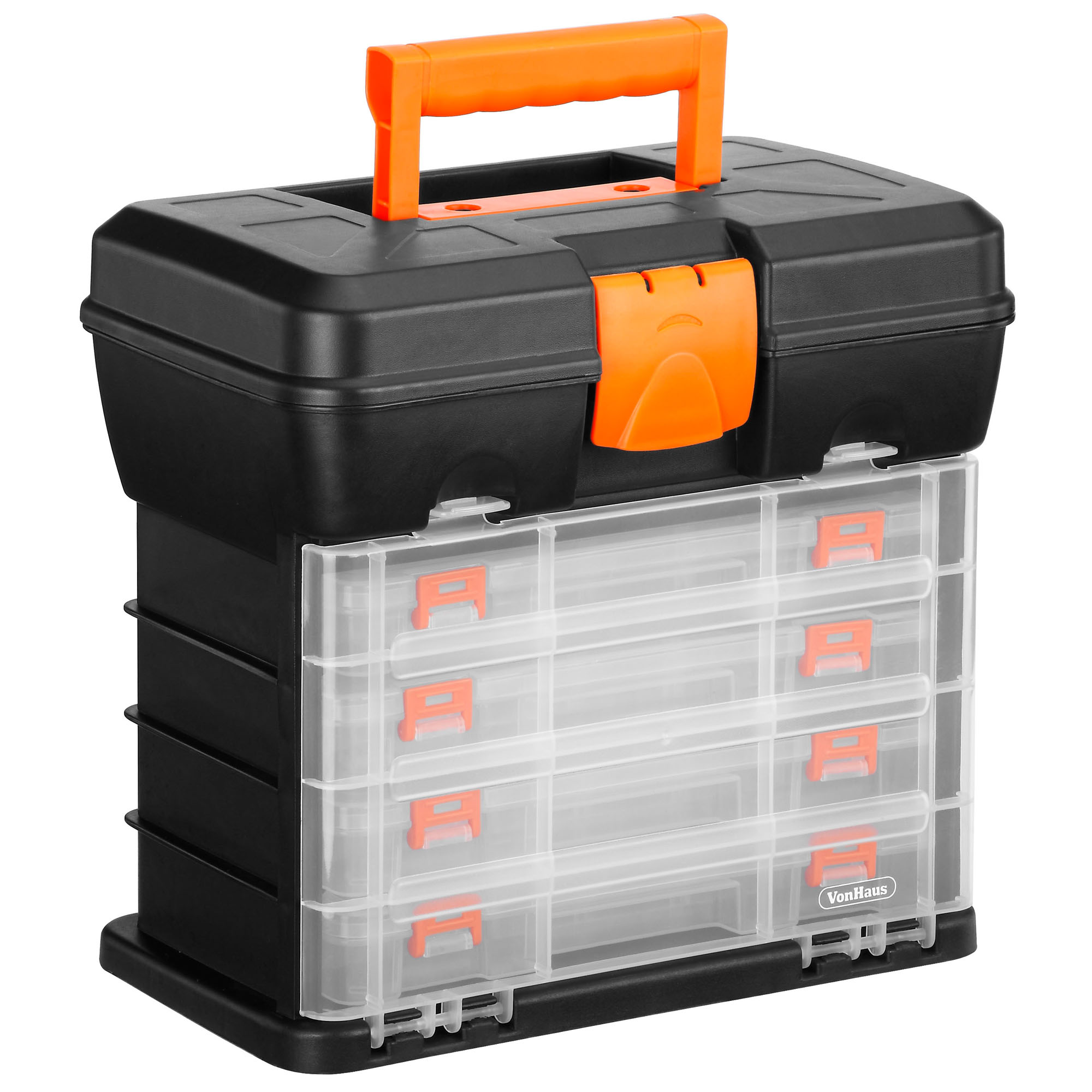 Storage No 2 Utility Storage: VonHaus Utility DIY Storage Tool Box Carry Case