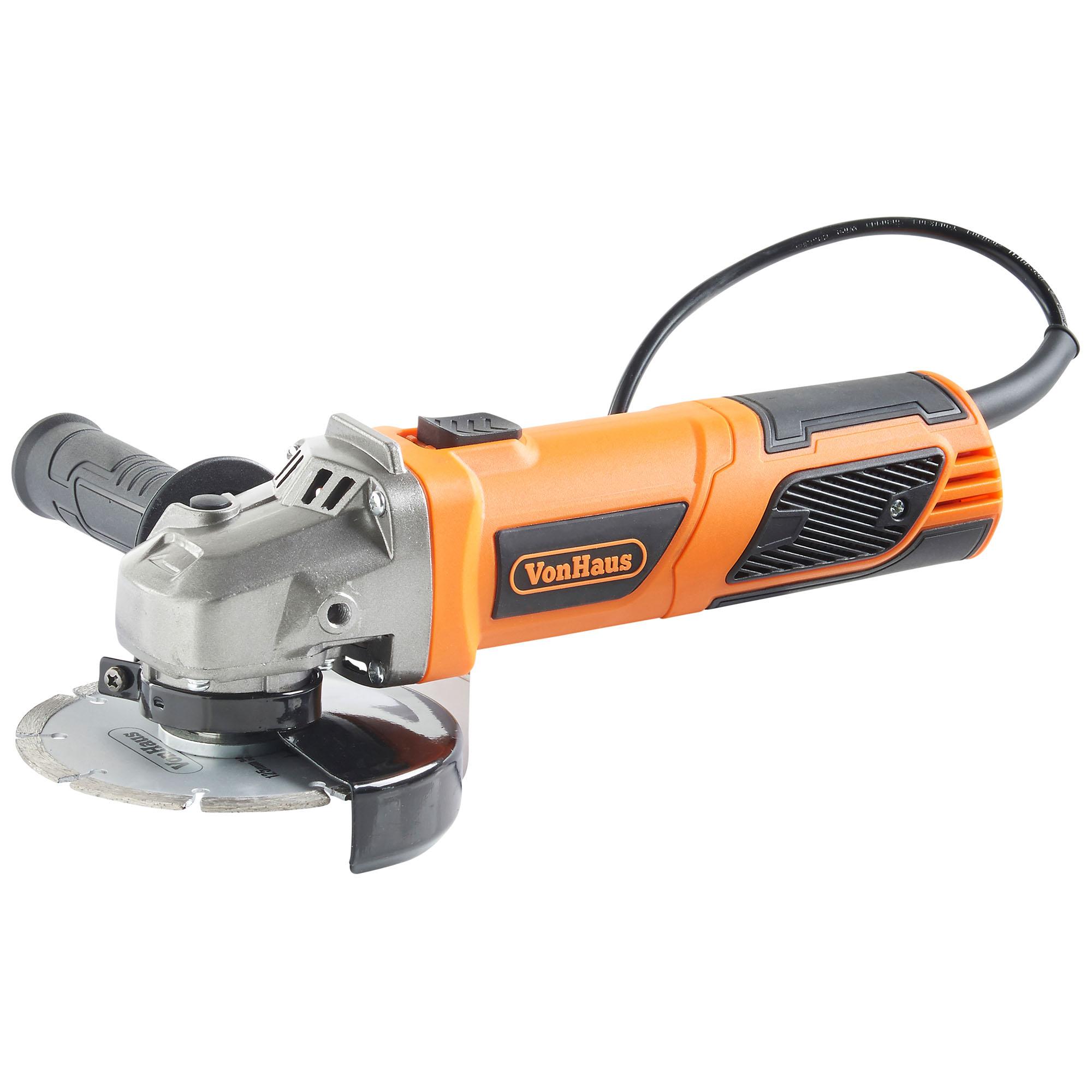 Vonhaus 950w 125mm 115mm 5 angle grinder 7 cutting discs sentinel vonhaus 950w 125mm angle grinder doublecrazyfo Gallery