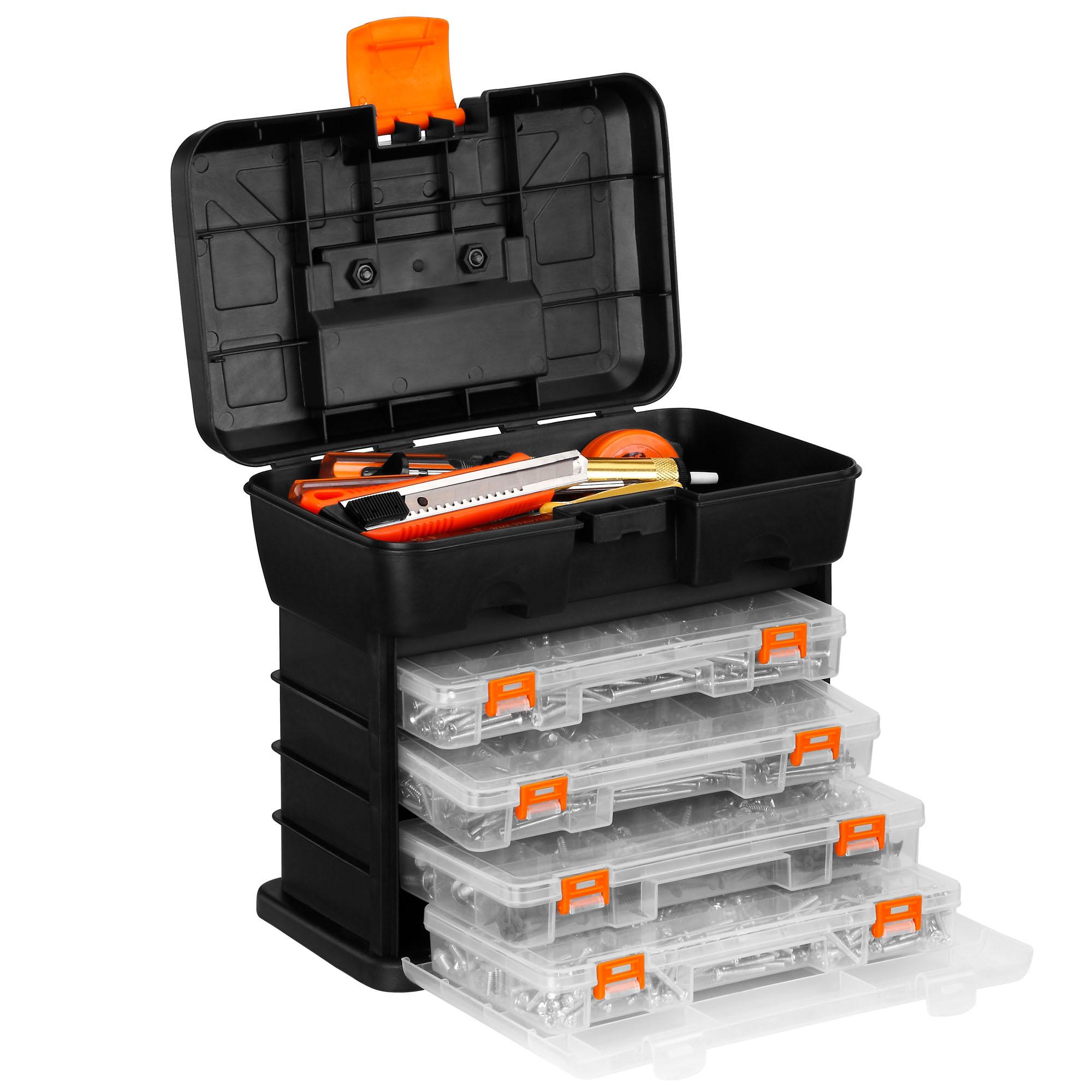 Vonhaus Utility Diy Storage Tool Box Carry Case 4