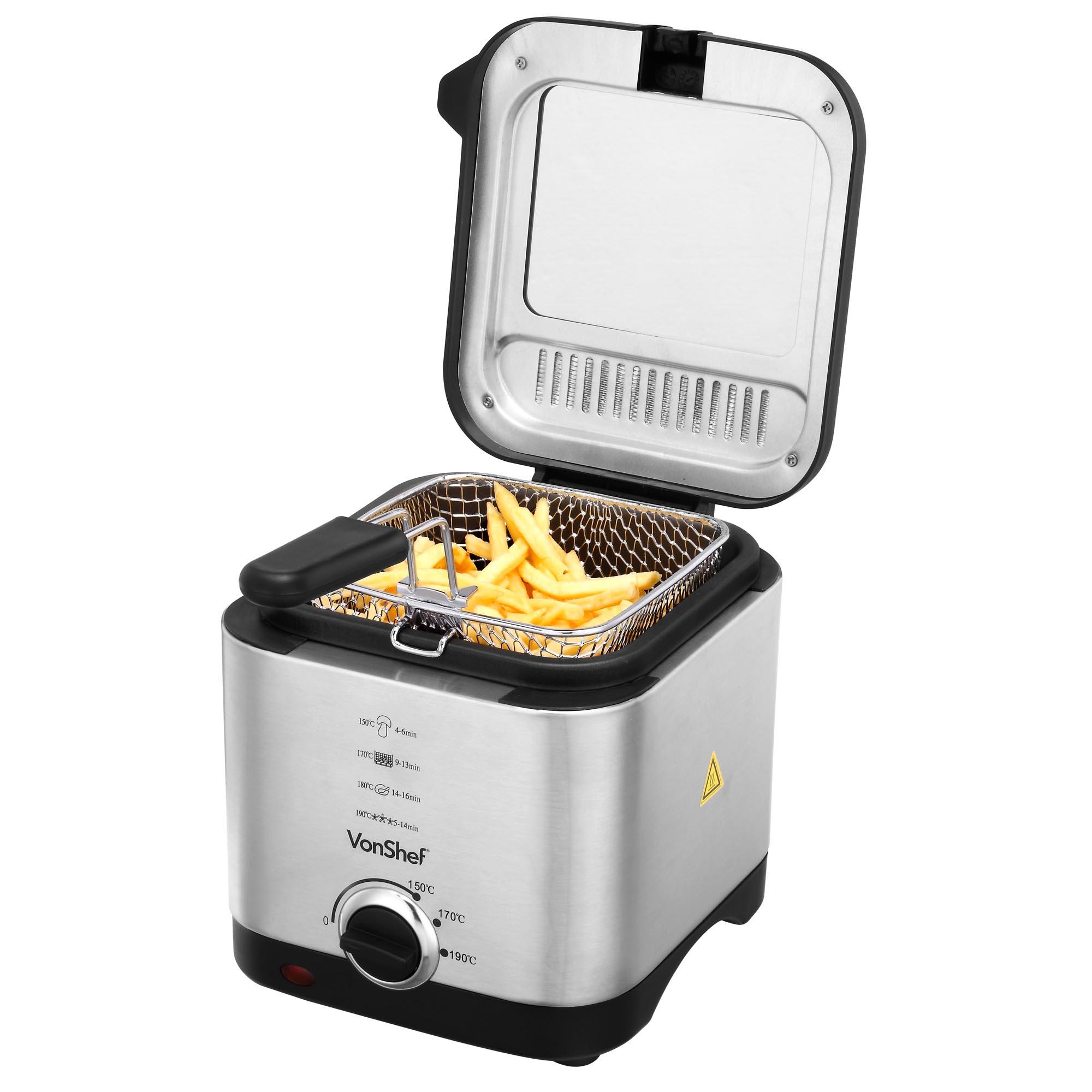 Vonshef Deep Fat Fryer 1 5 Litre Chip Pan Basket Non Stick