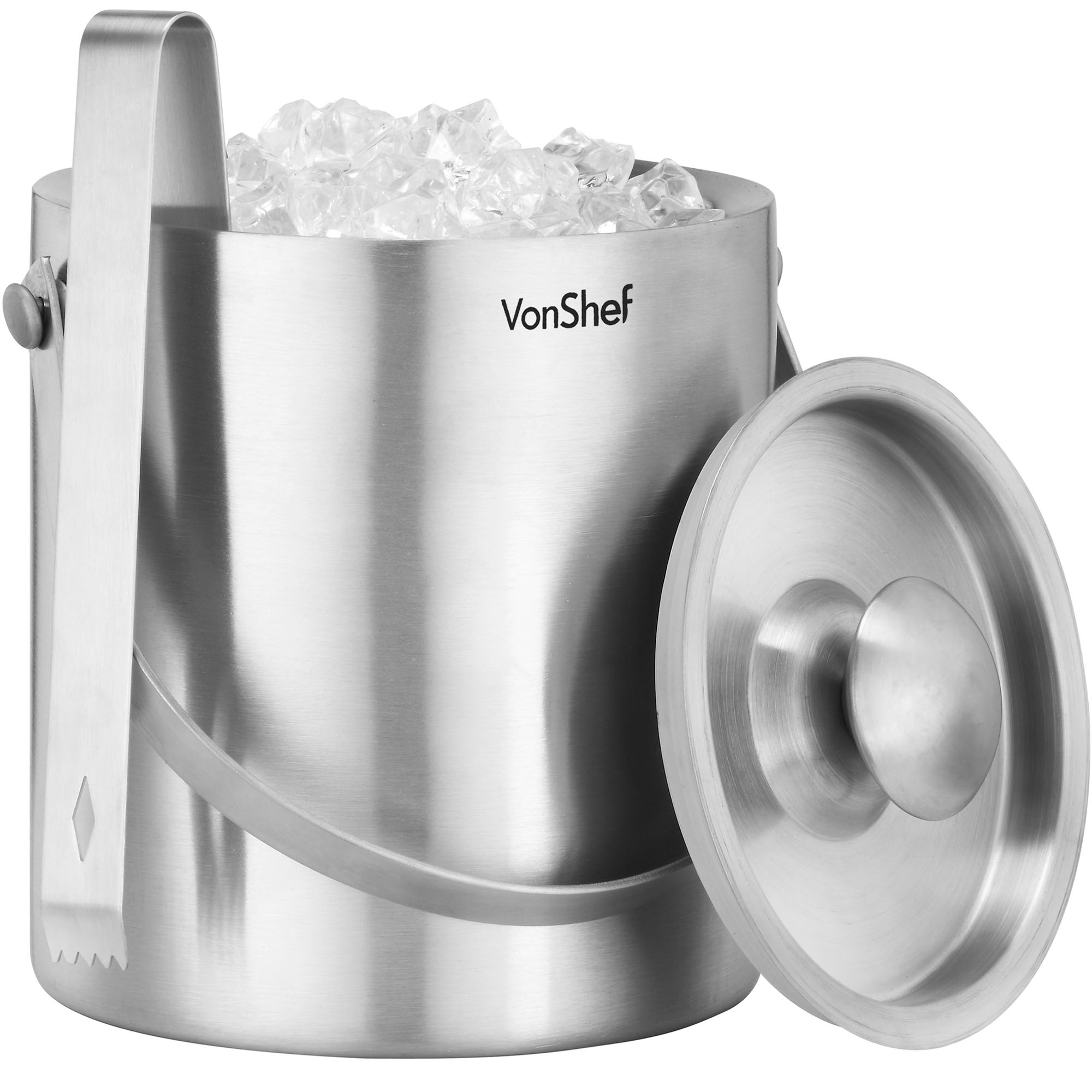 stainless steel ice bucket. Sentinel VonShef Large 2L Double Walled Insulated Stainless Steel Ice Bucket \u0026 FREE Tongs B