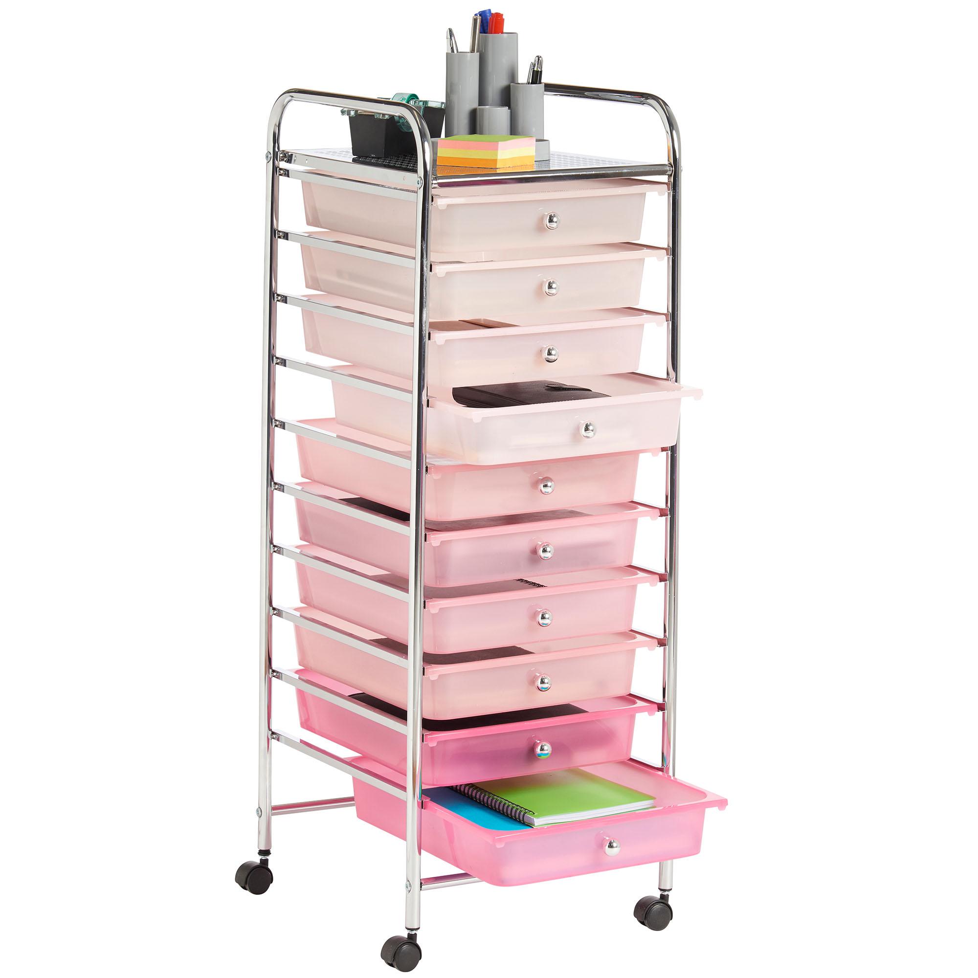 in pin drawer adjustable top storage cart drawers studio grey