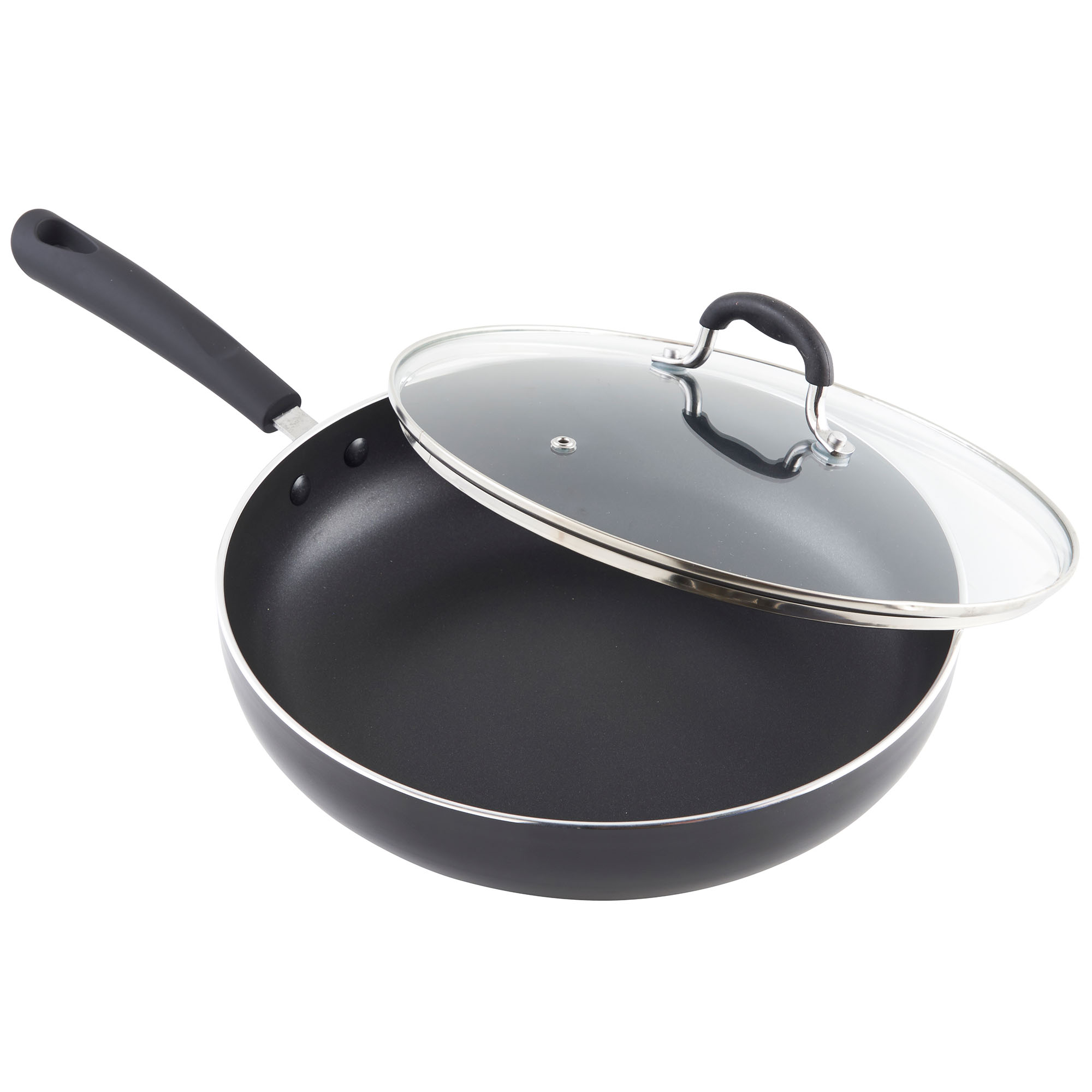 vonshef 28cm non stick aluminium induction frying saut pan glass lid 689850470739 ebay. Black Bedroom Furniture Sets. Home Design Ideas