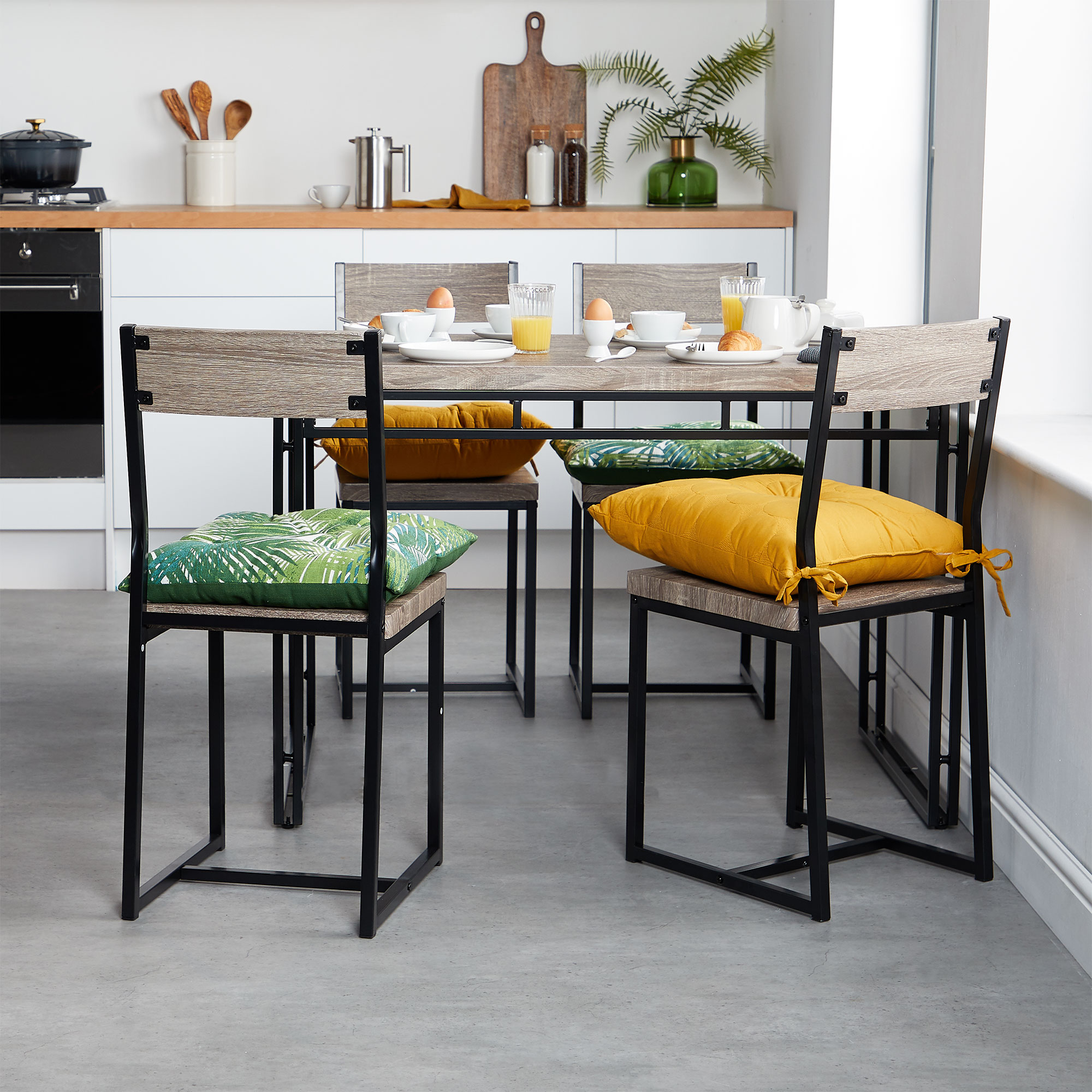 Modern Industrial Dining Table Sets
