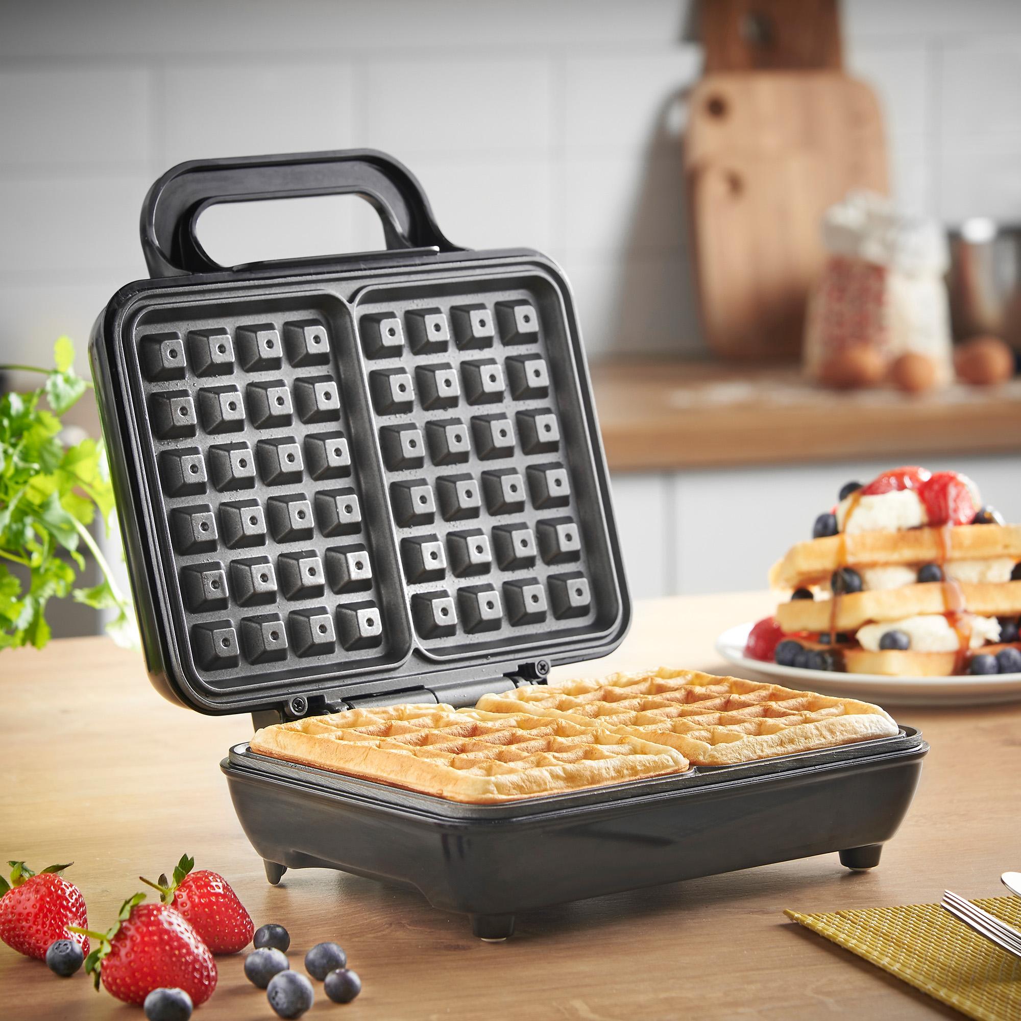 vonshef belgian waffle maker iron machine 2 slice. Black Bedroom Furniture Sets. Home Design Ideas