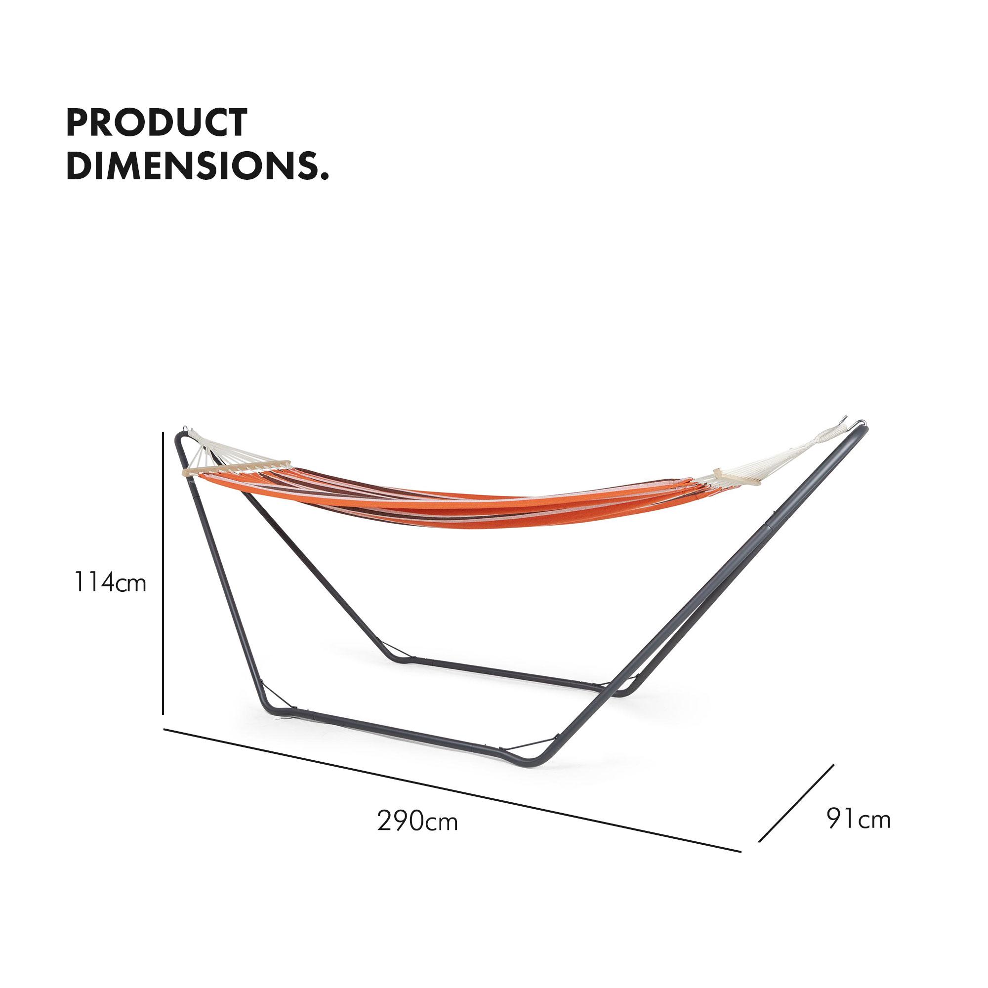 Vonhaus Hammock With Metal Frame Luxury Standing Swinging