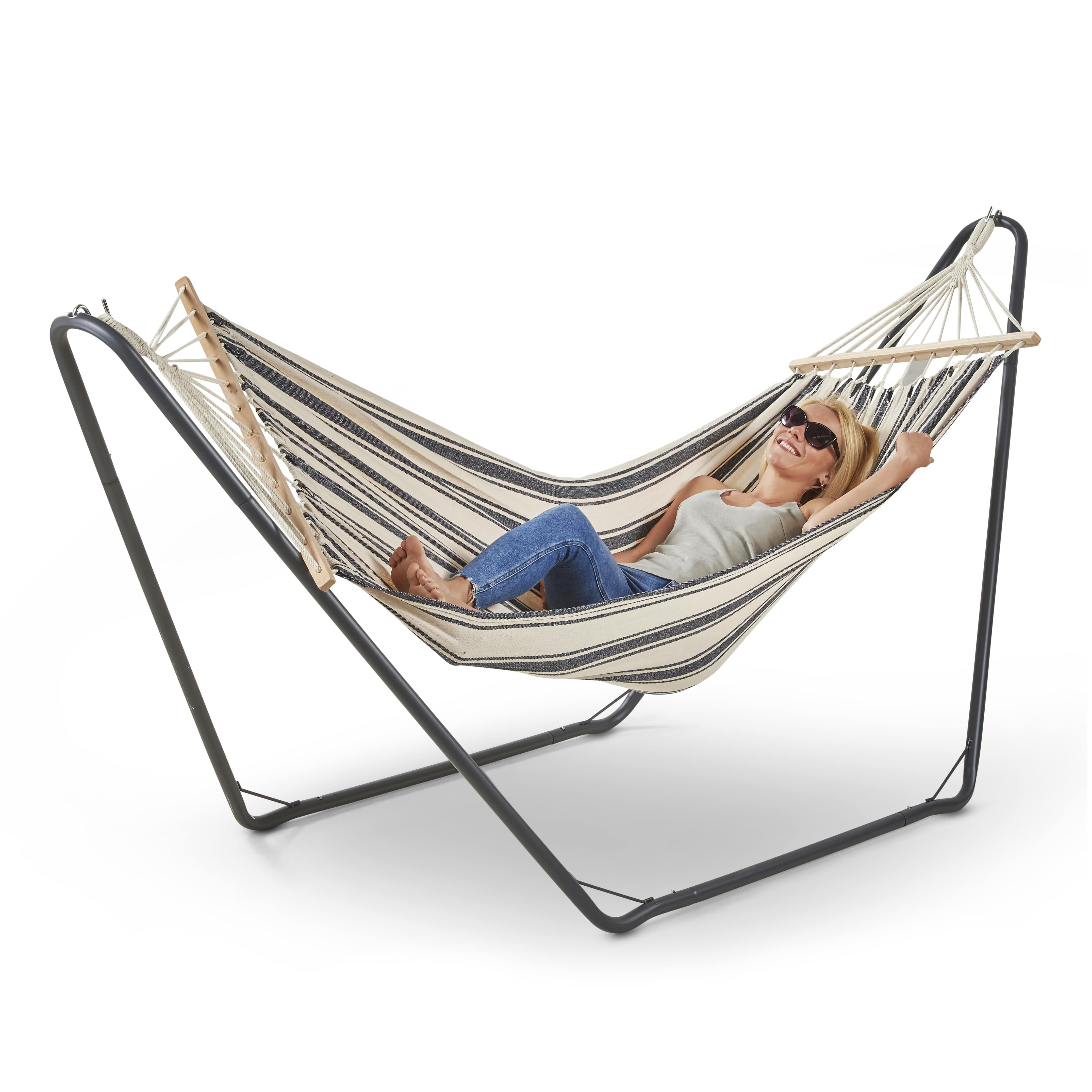 Vonhaus Hammock With Frame Luxury Free Standing Swing Seat