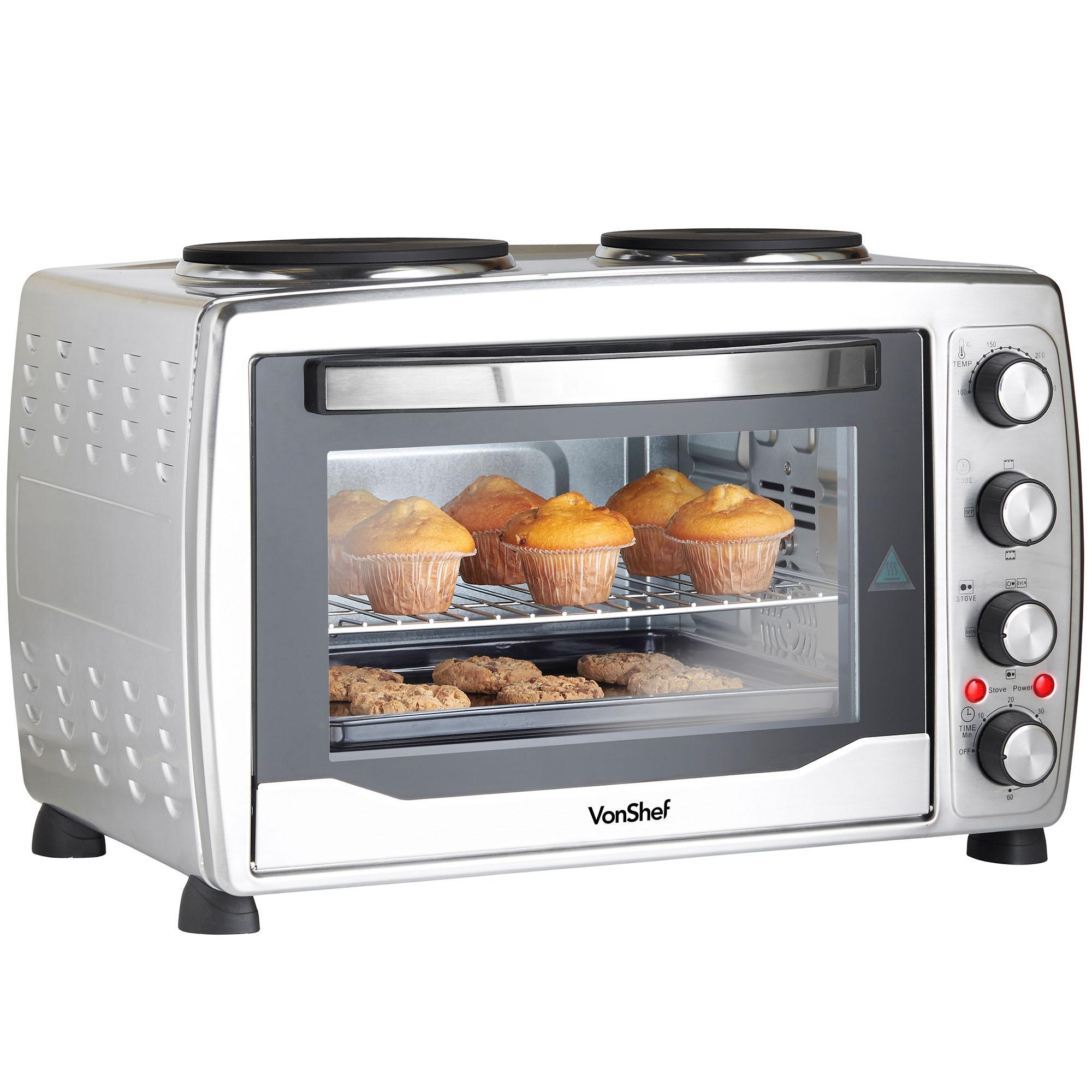 Mini Oven: VonShef Mini Oven 36L Grill Convection Electric Double Hob
