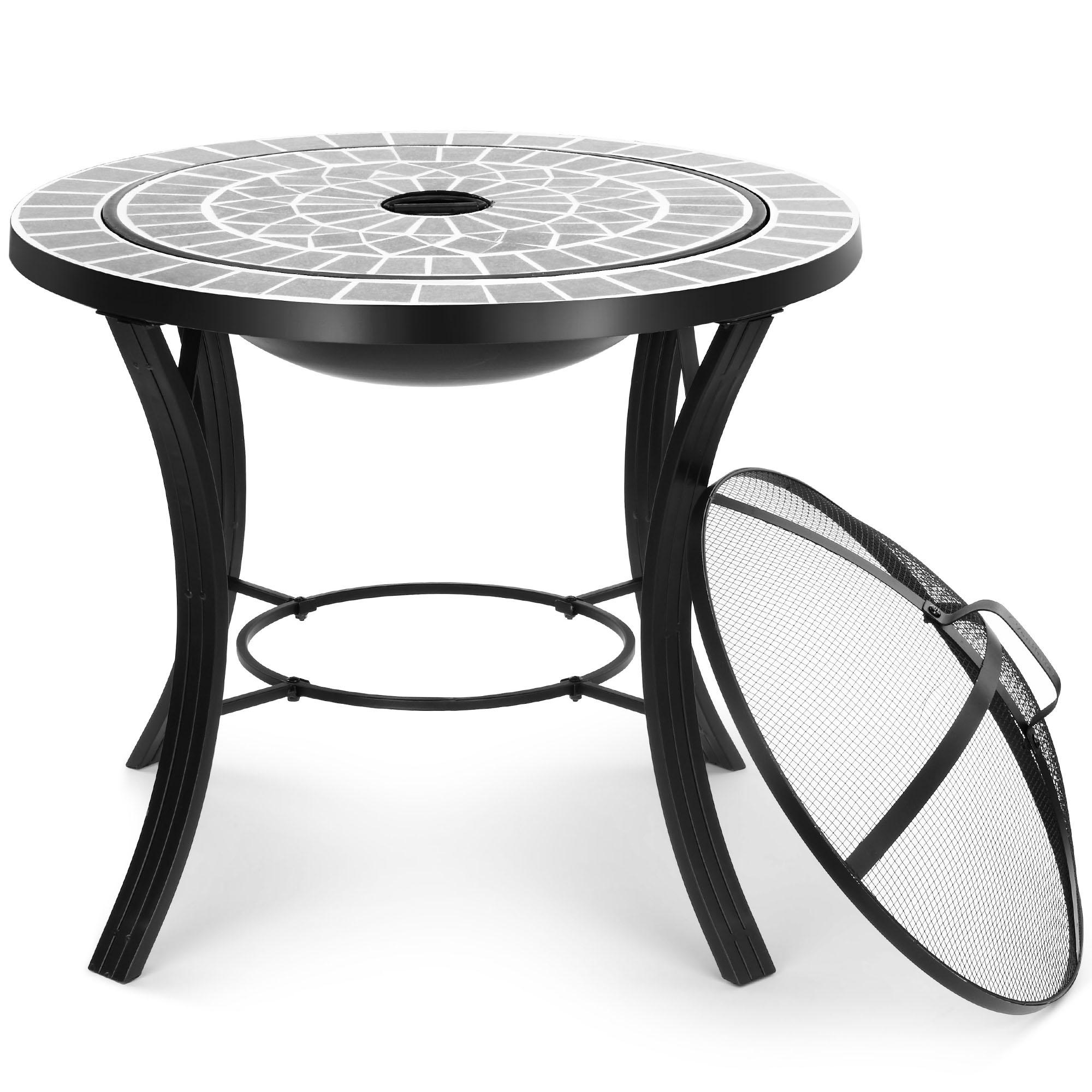 VonHaus Mosaic Fire Pit BBQ Table - Garden & Outdoor Bowl ...