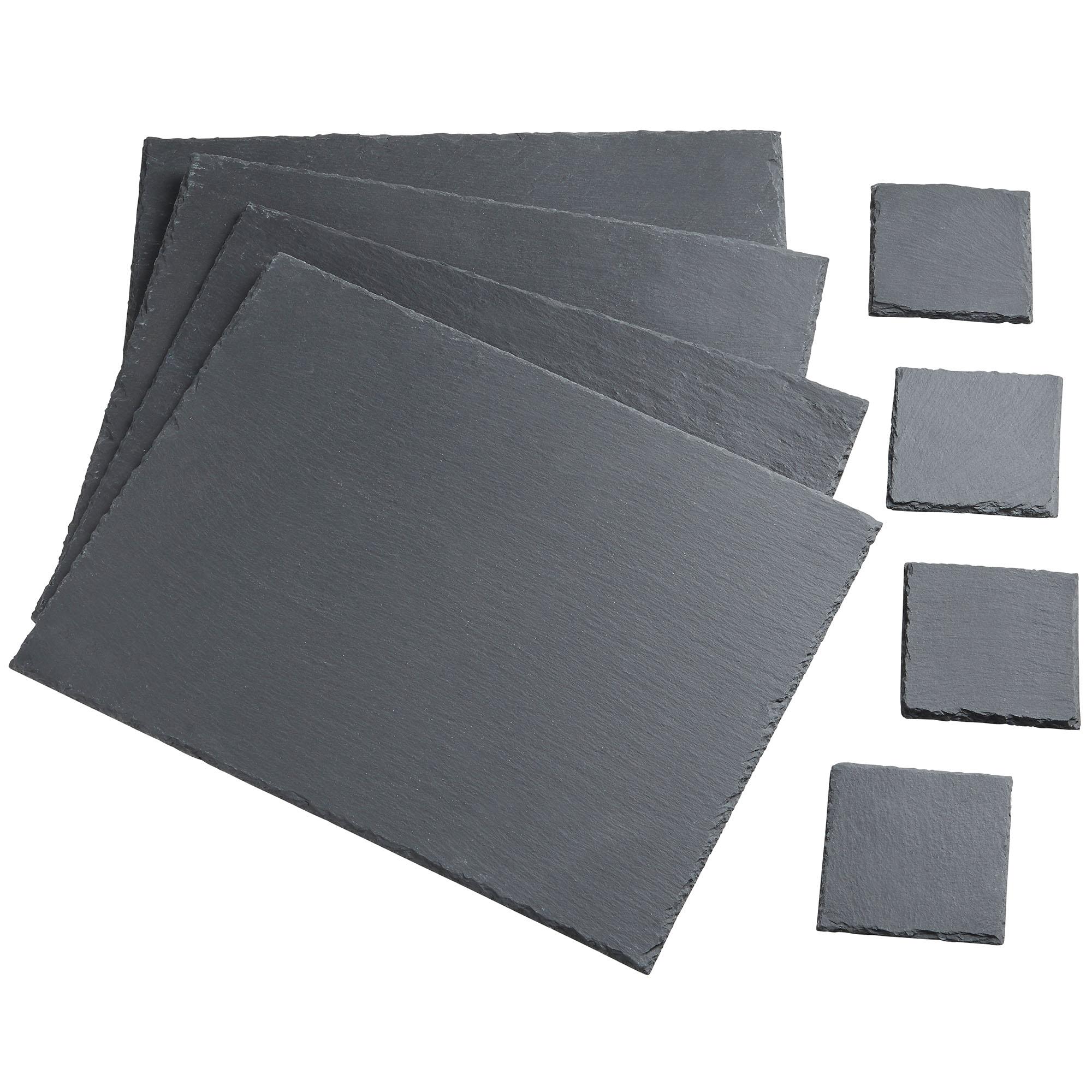 Vonshef 8 Piece Slate Placemat Set 4 X Mats Coasters Non Slip Heat Resistant 5056115717796 Ebay