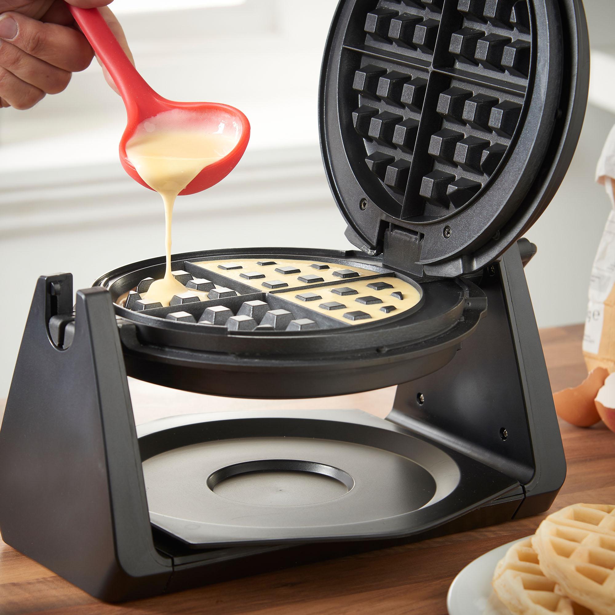 vonshef 20cm rotating quad belgian waffle maker iron. Black Bedroom Furniture Sets. Home Design Ideas