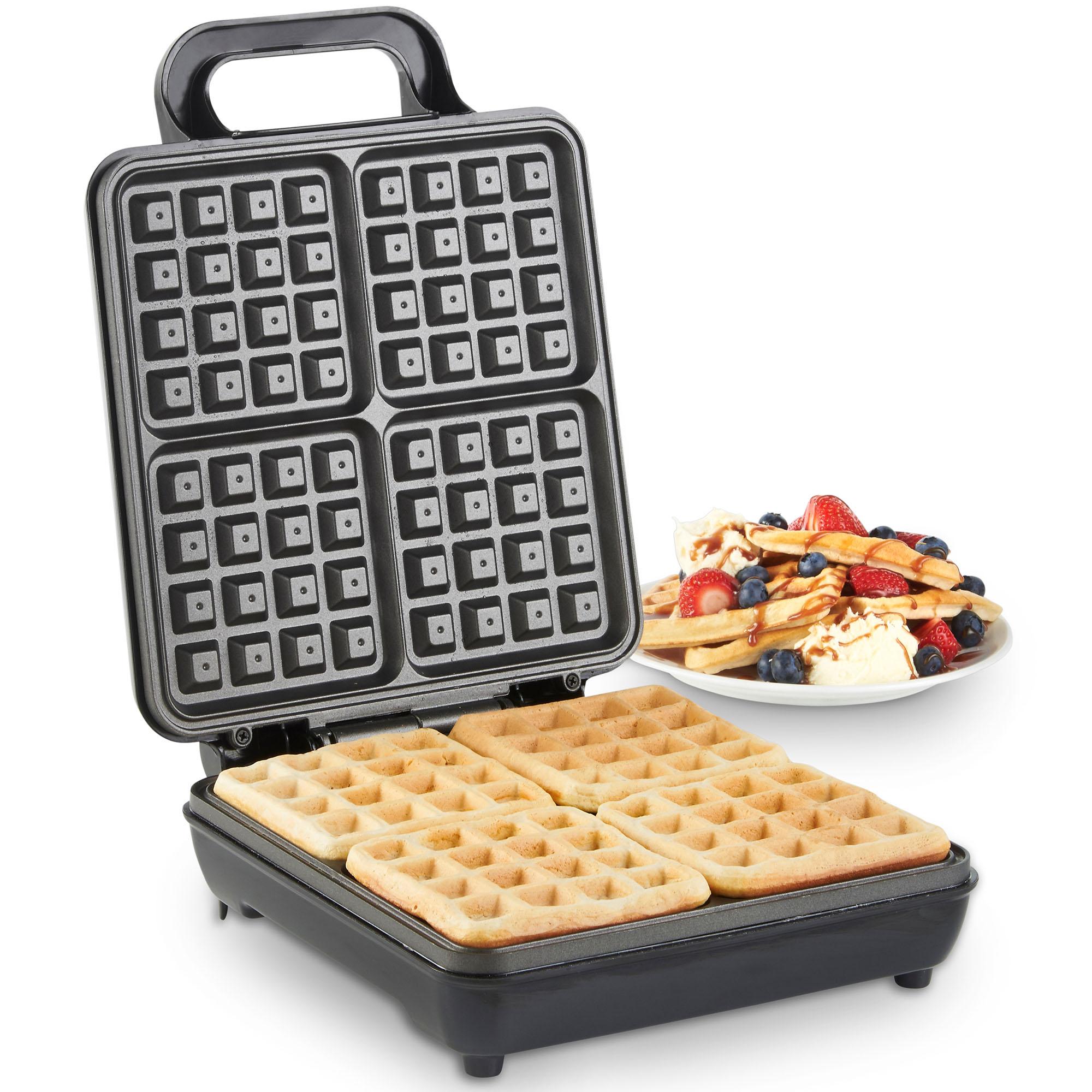 vonshef waffle maker iron machine press belgian 4 slice. Black Bedroom Furniture Sets. Home Design Ideas