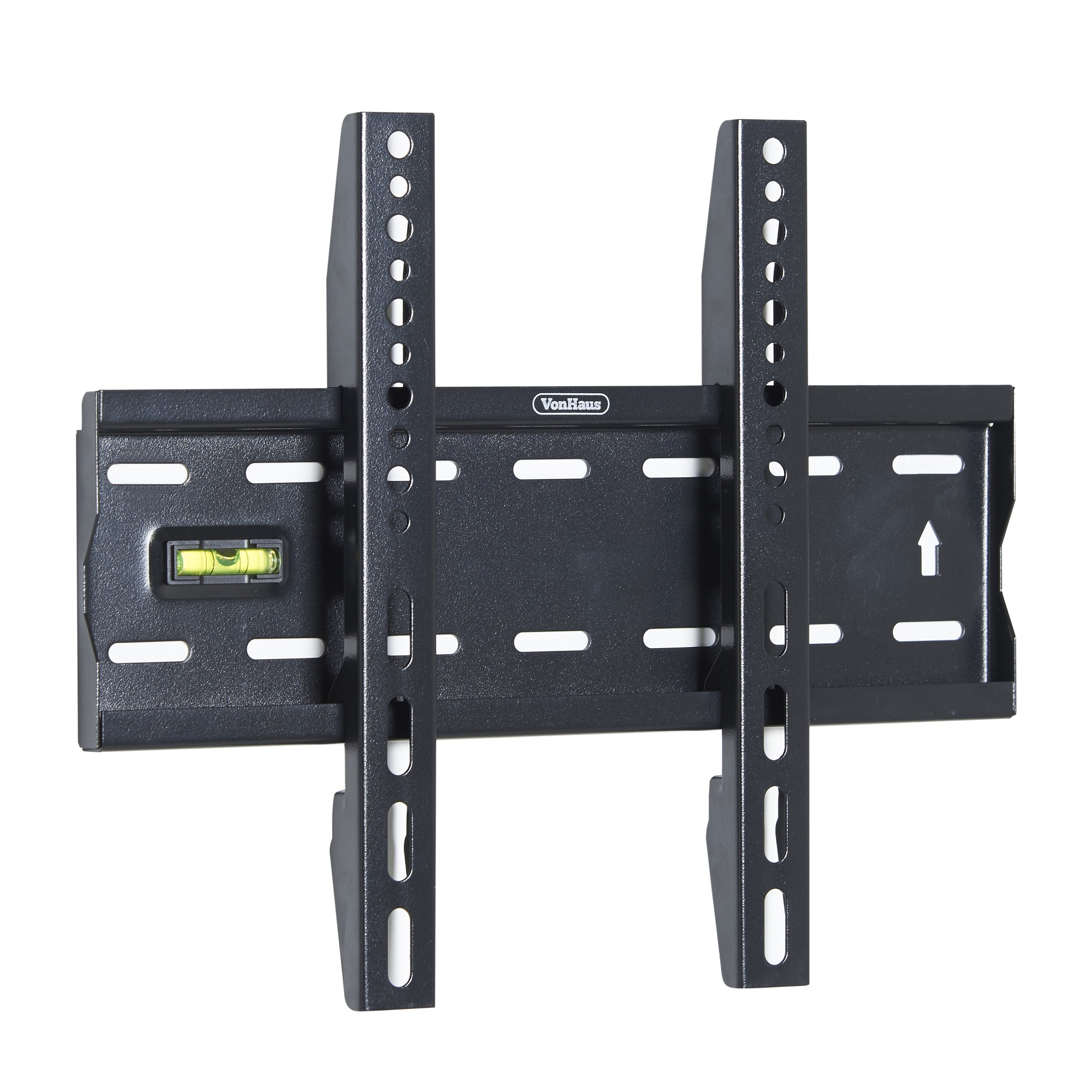 vonhaus 15 42 fixed tv wall mount bracket with built in spirit level ebay. Black Bedroom Furniture Sets. Home Design Ideas