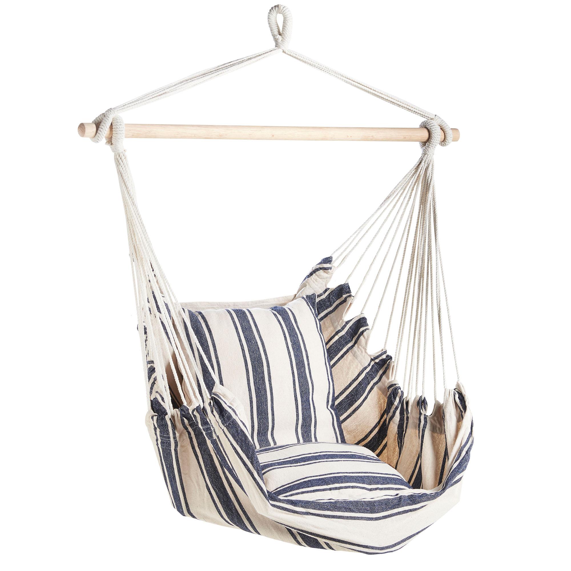 Vonhaus Hanging Chair 100 Cotton Garden Outdoor Swinging