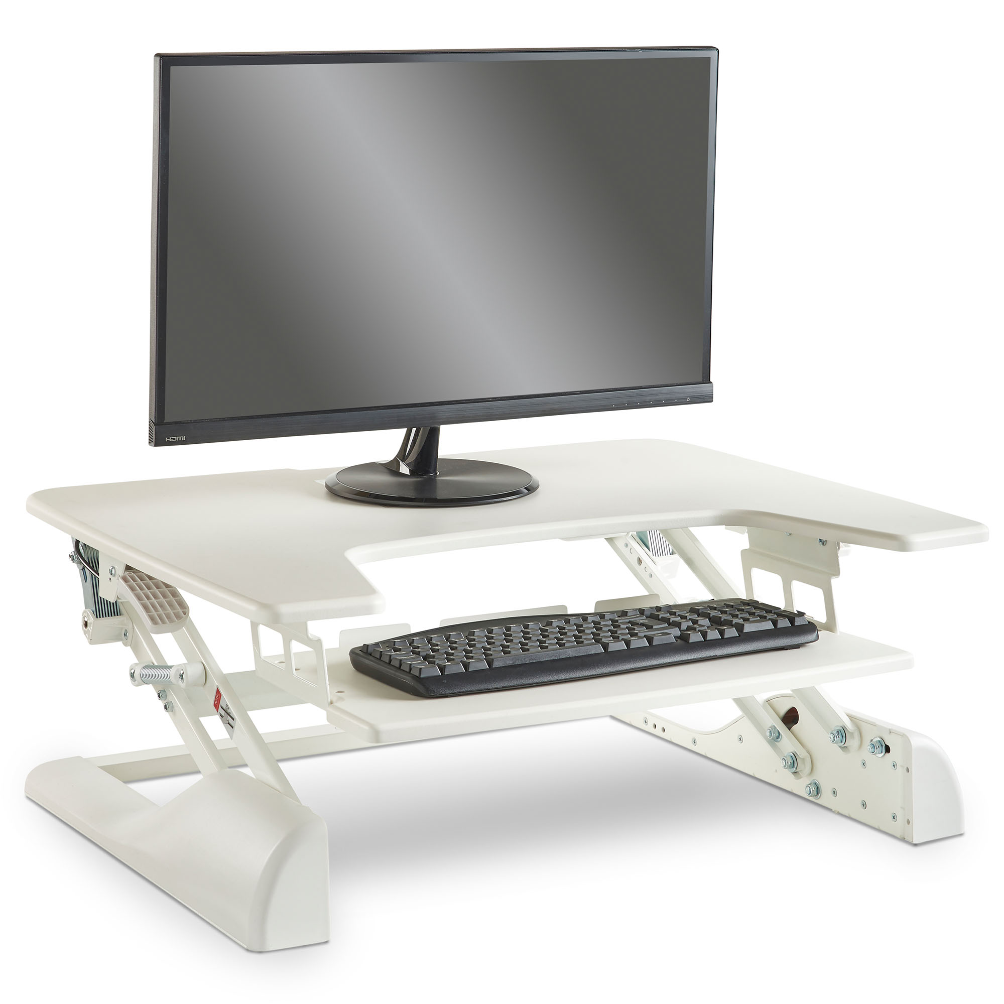 Vonhaus Sit Stand Desk Ergonomic Height Adjustable Monitor