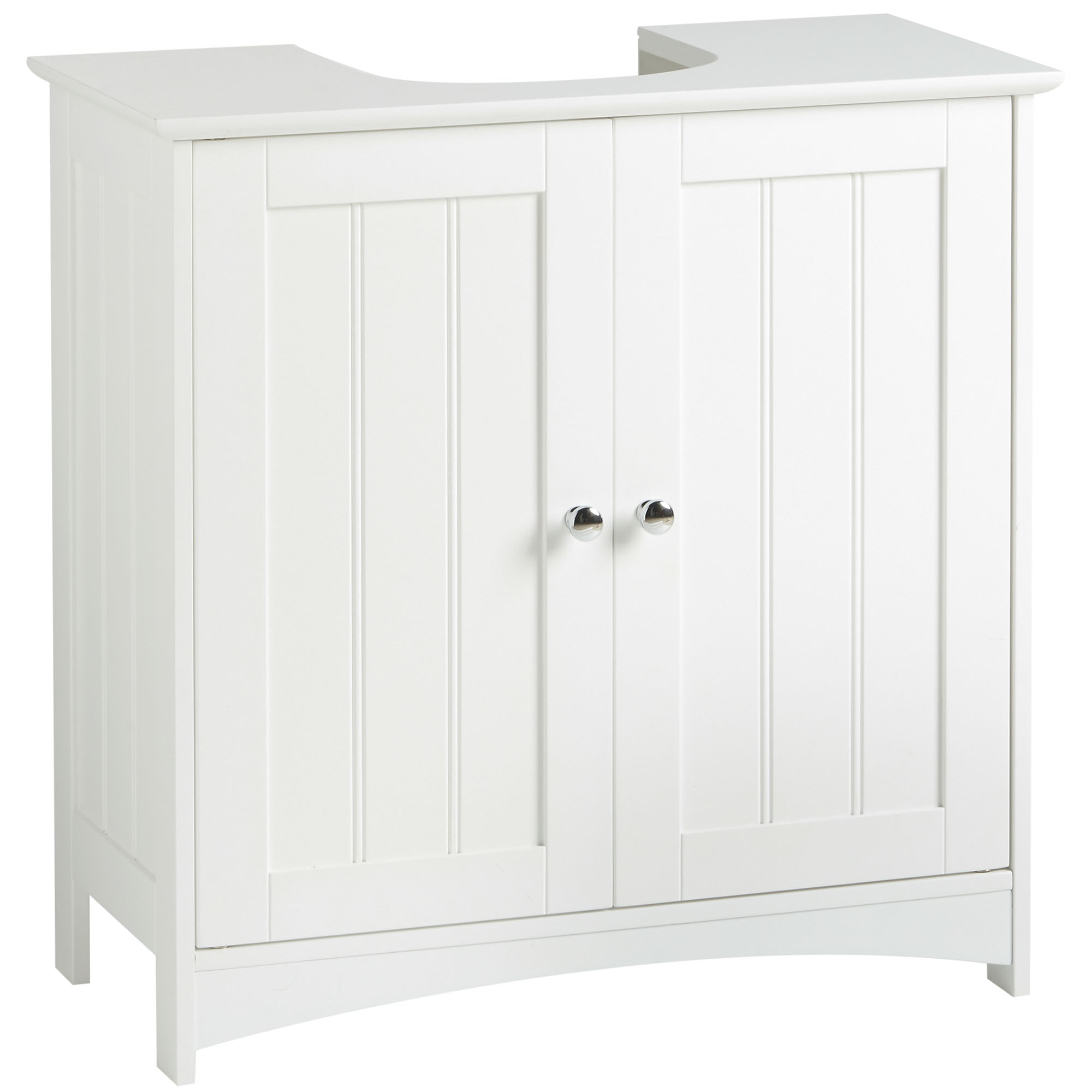 Vonhaus colonial under basin cabinet cupboard white - Under sink bathroom storage cabinet ...