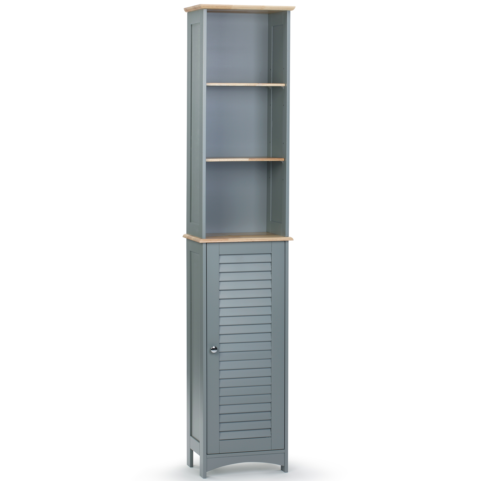 Vonhaus Tall Boy Bathroom Door Cabinet Space Saving