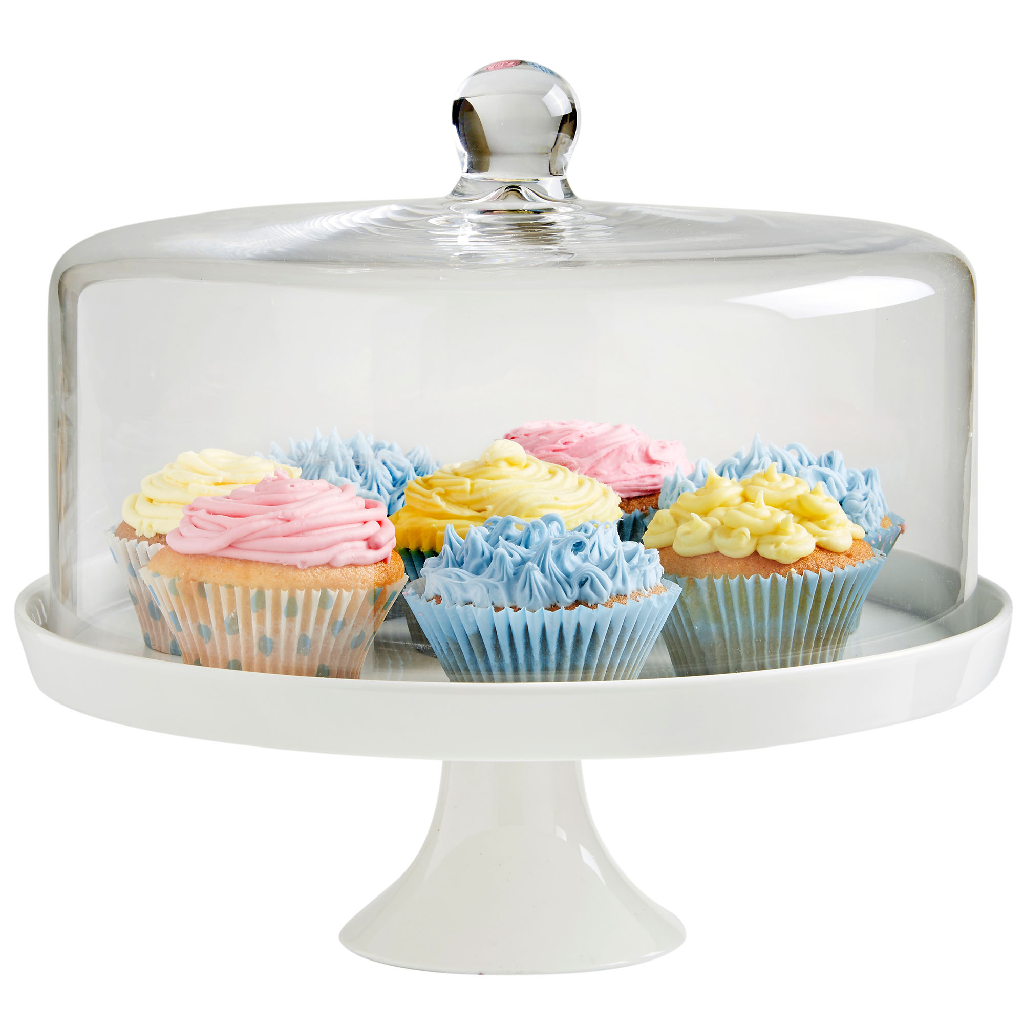 Vonshef 30cm Cake Cupcake White Ceramic Display Stand With
