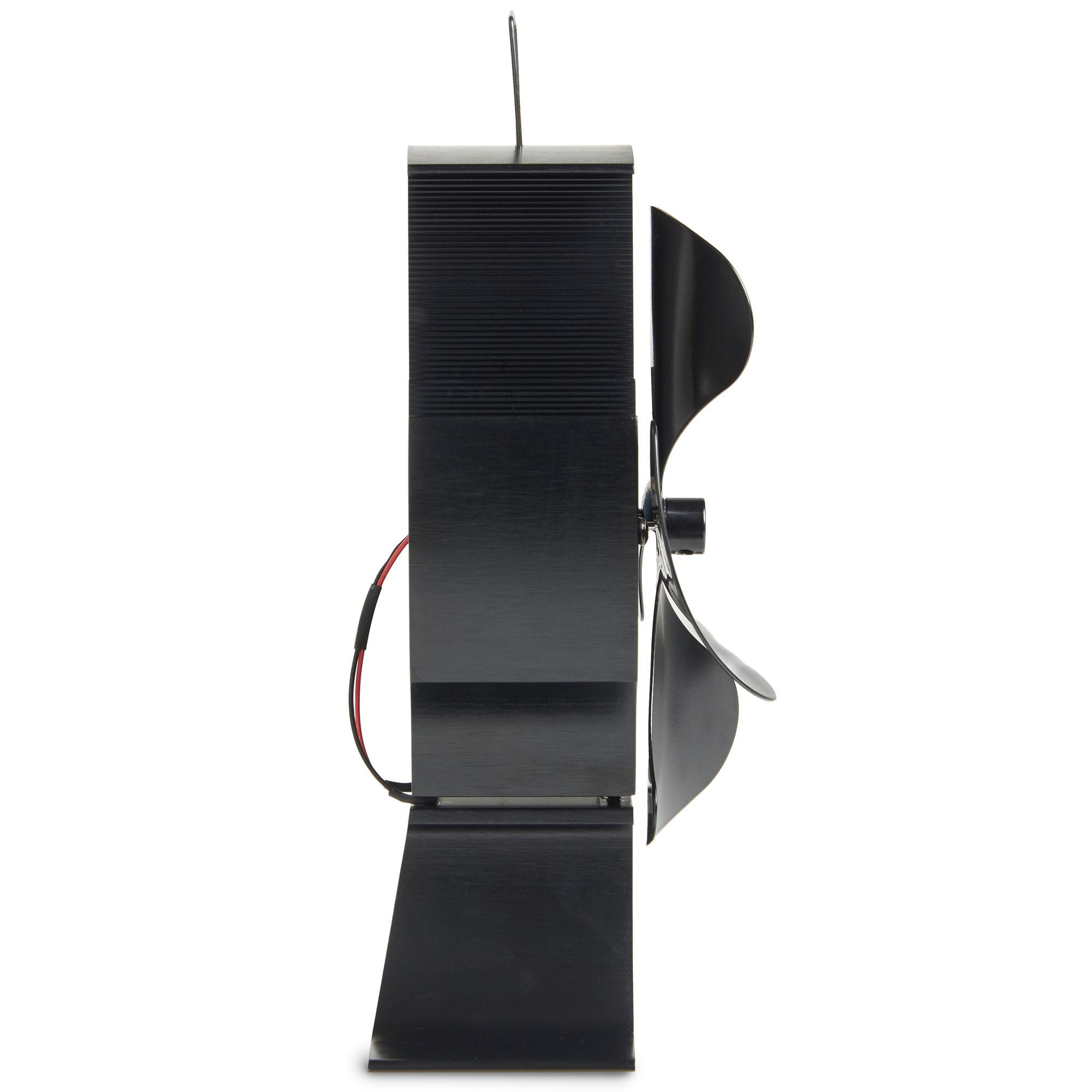 vonhaus 4 blade heat powered wood log burning fire burner. Black Bedroom Furniture Sets. Home Design Ideas
