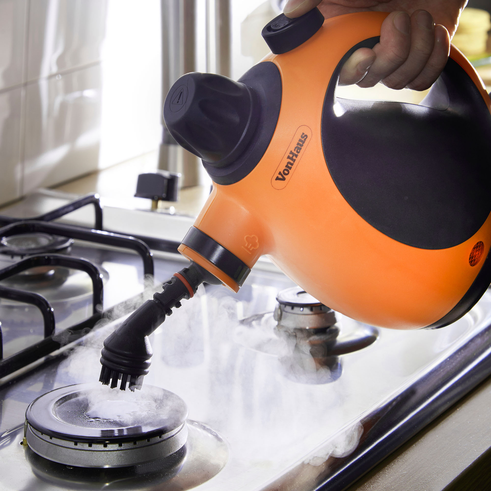 vonhaus hand held portable electric steam cleaner steamer