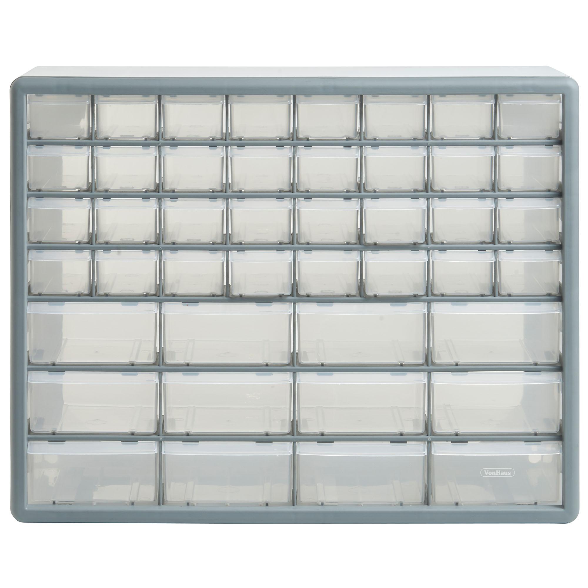 Small Parts Storage 8 Drawers Cabinet Screws Nails: VonHaus 44 Multi Drawer Organiser Nail Bolt Screw Craft