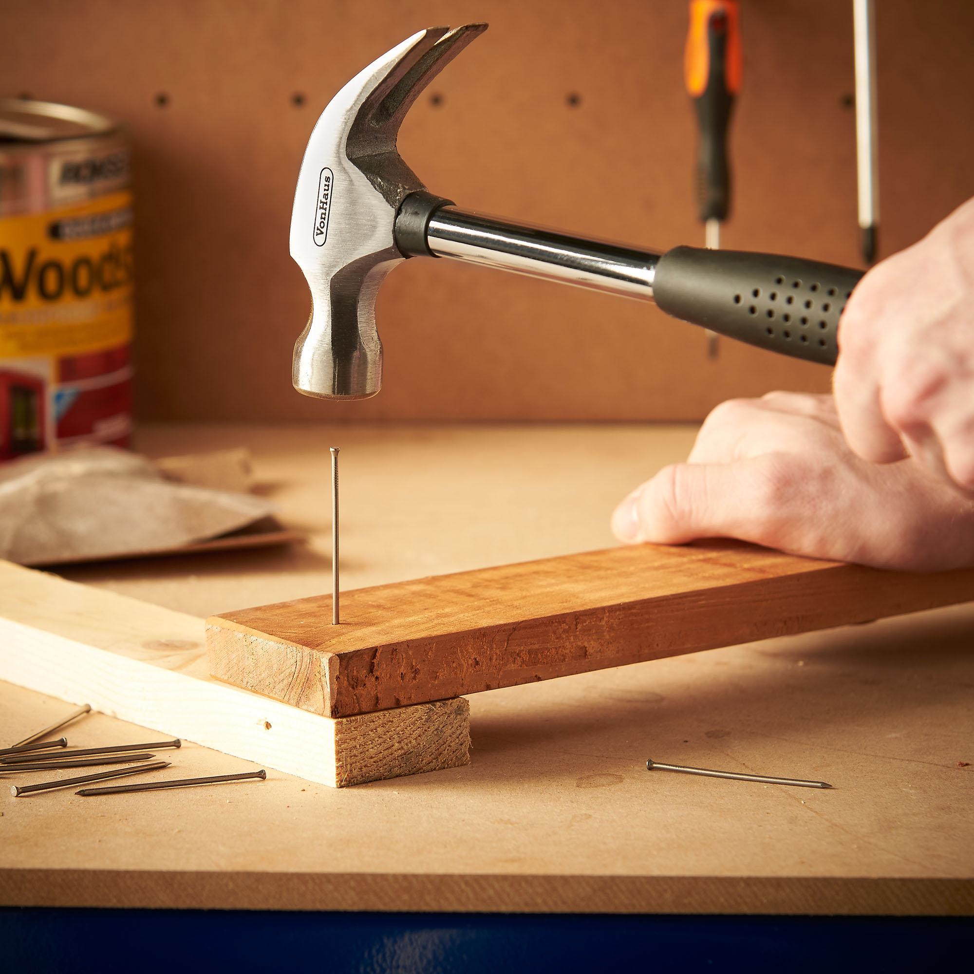 Vonhaus 92pc DIY Household Hand Tool Kit Set with Tool Organiser ...