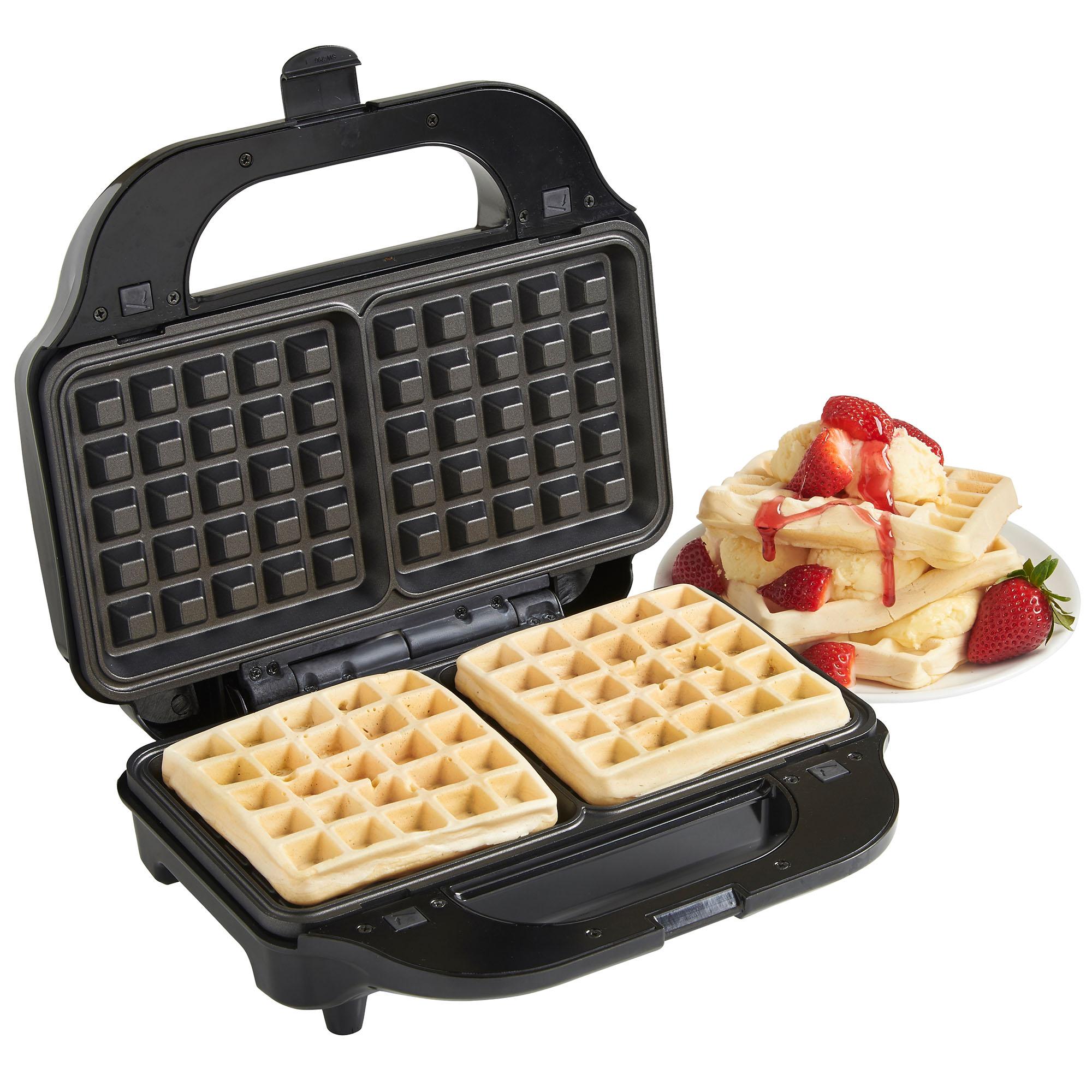 vonshef 2 in 1 sandwich maker toaster waffle iron 800w. Black Bedroom Furniture Sets. Home Design Ideas