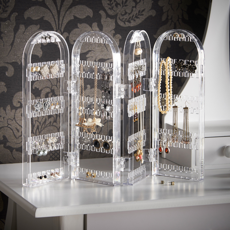 Beautify Earring Holder Clear Stand Jewellery Travel
