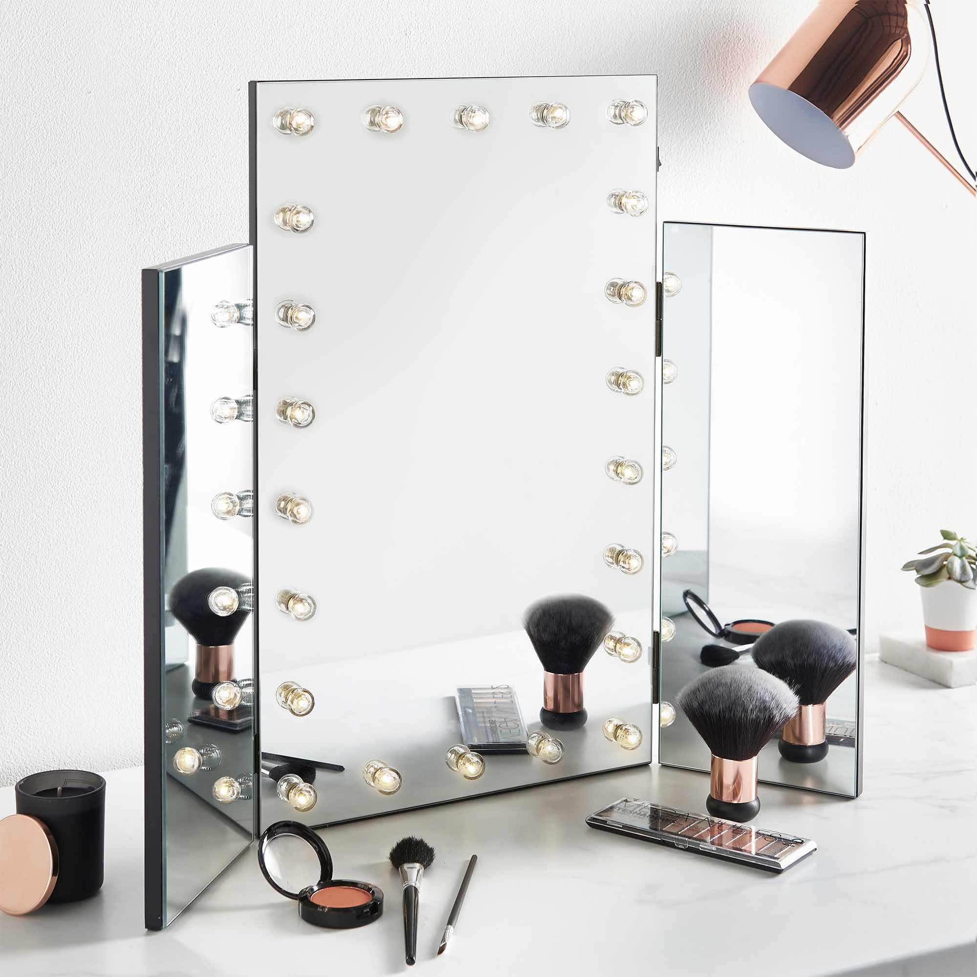 Beautify Tri Fold Mirror Hollywood Dressing Table Vanity