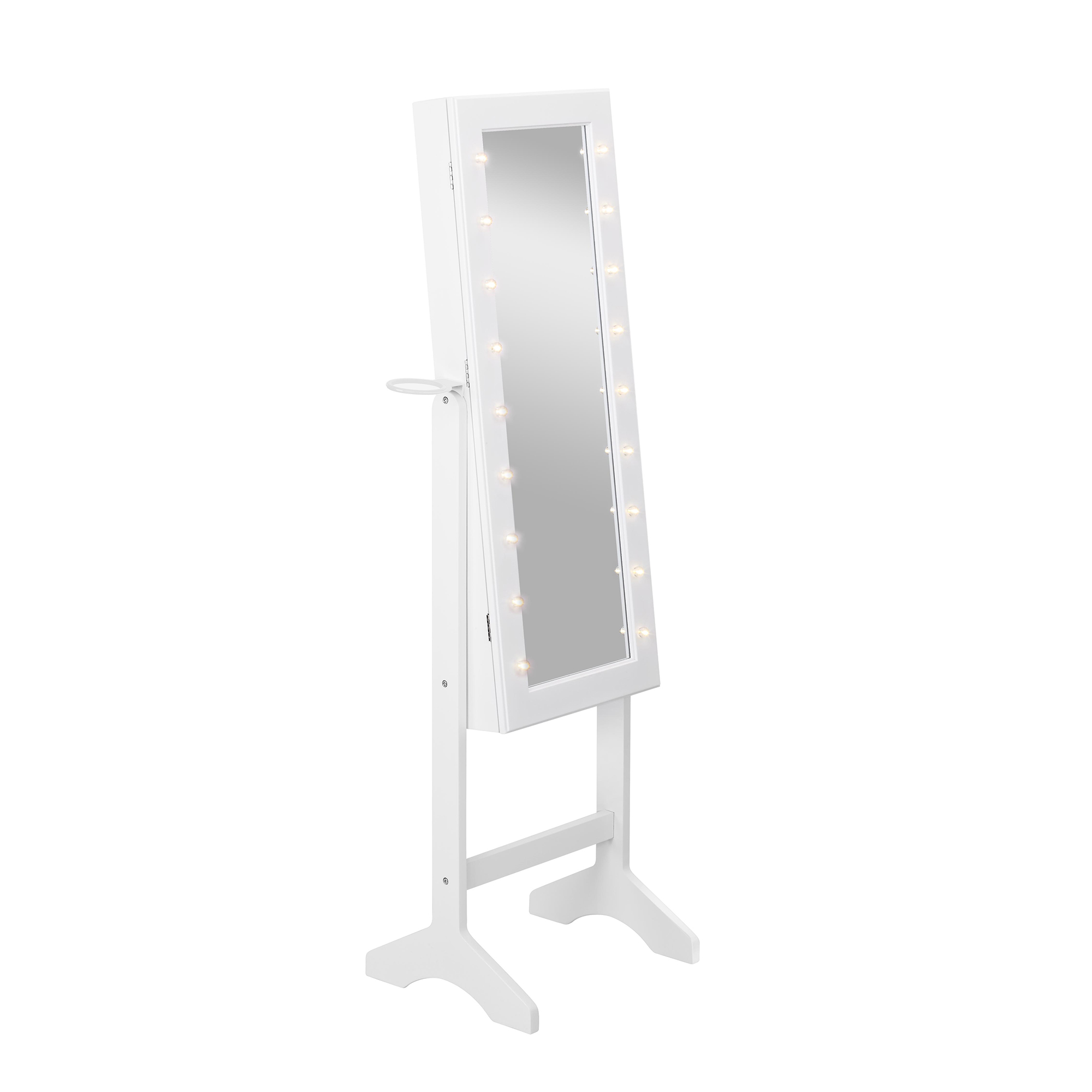 Beautify Jewellery Cabinet Full Length Mirror White