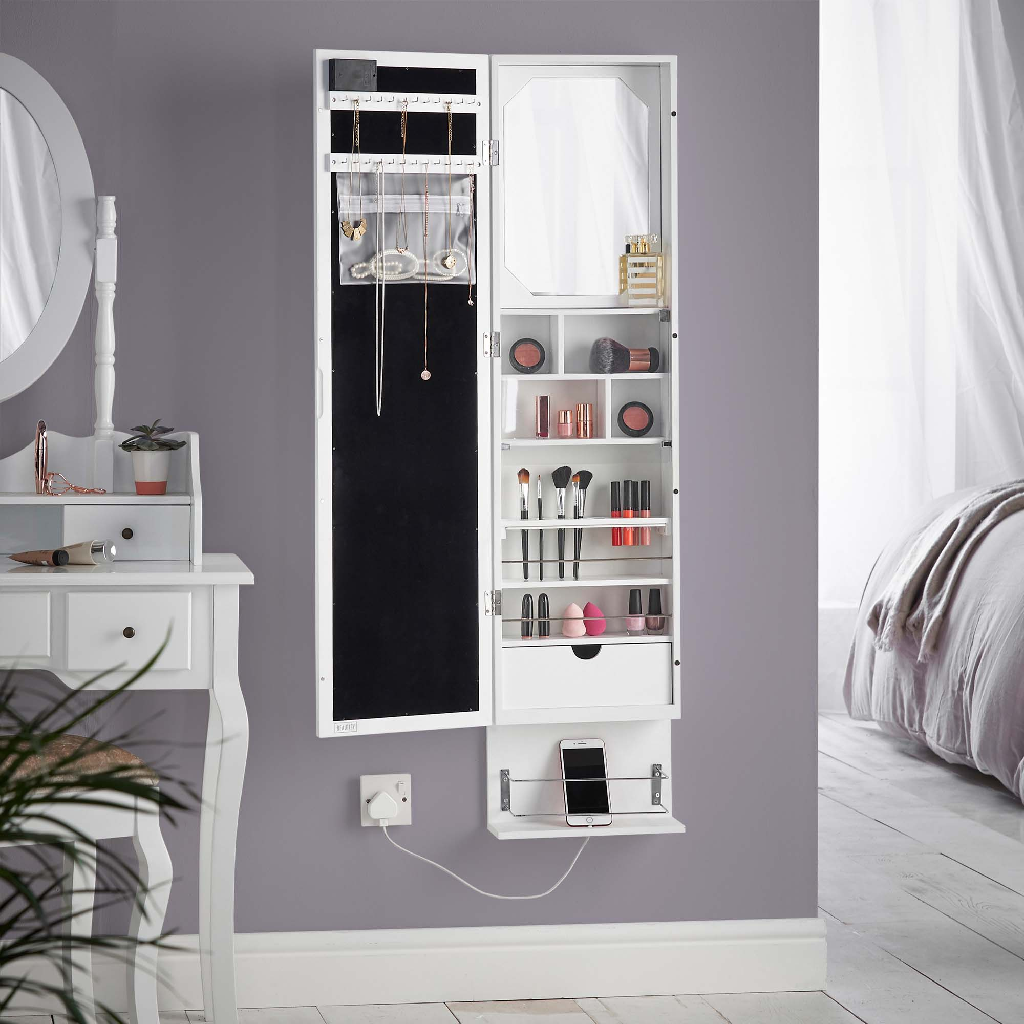 Beautify Jewellery Cabinet Wall Mounted Armoire With
