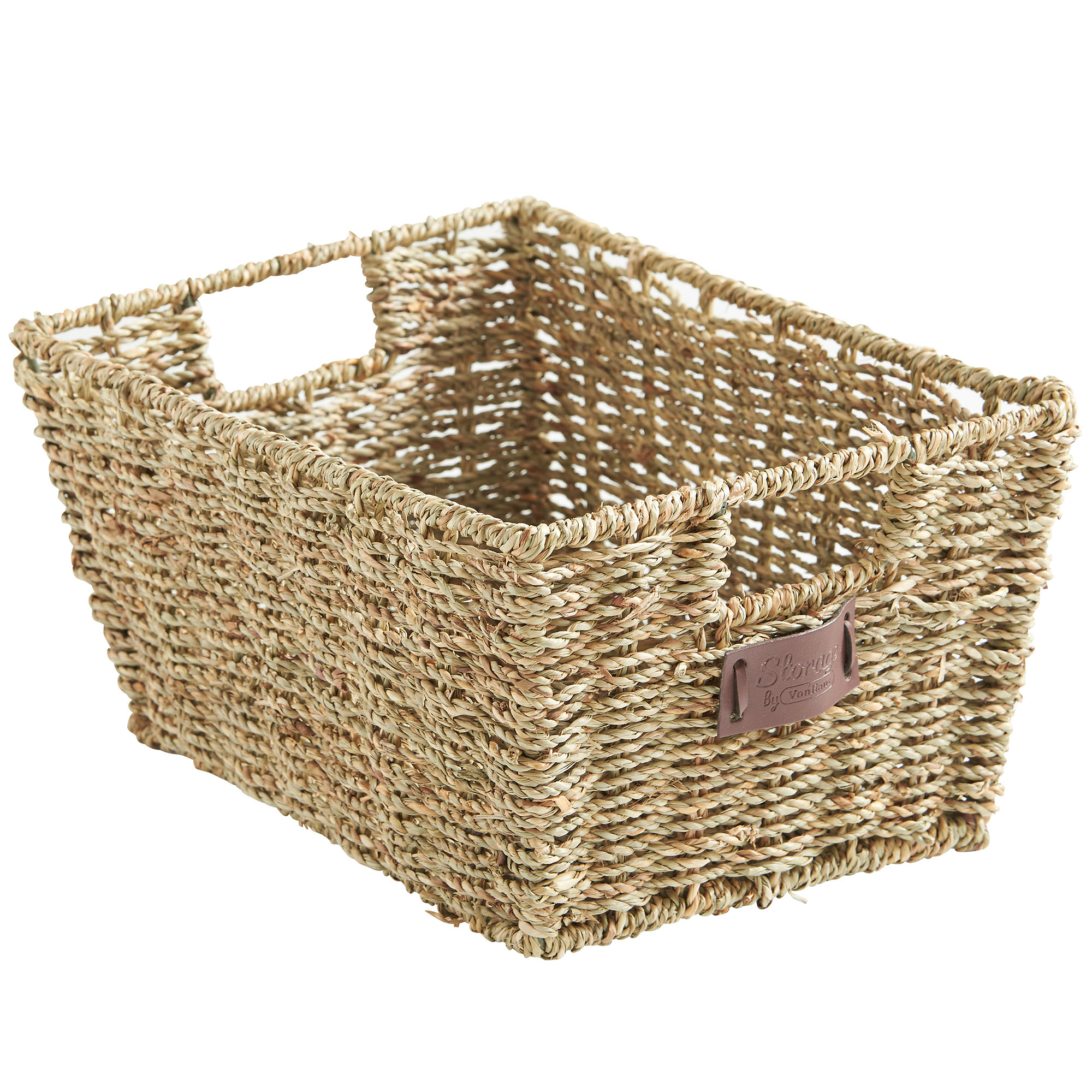 Sentinel VonHaus Set Of 4 Seagrass Storage Baskets With Insert Handles    Home U0026 Bathroom Organizer Baskets