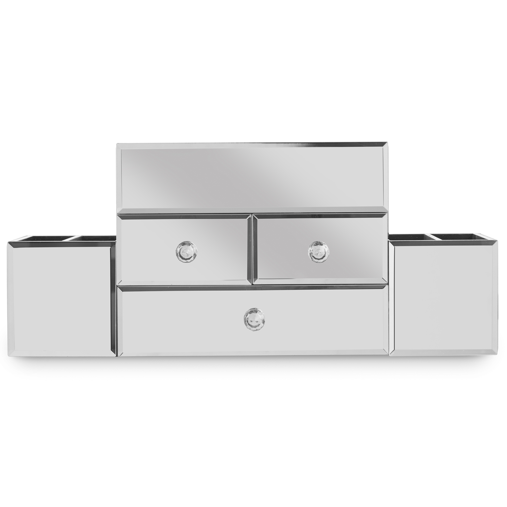 Beautify Large Mirrored Jewelry Box Cosmetic Makeup Organizer