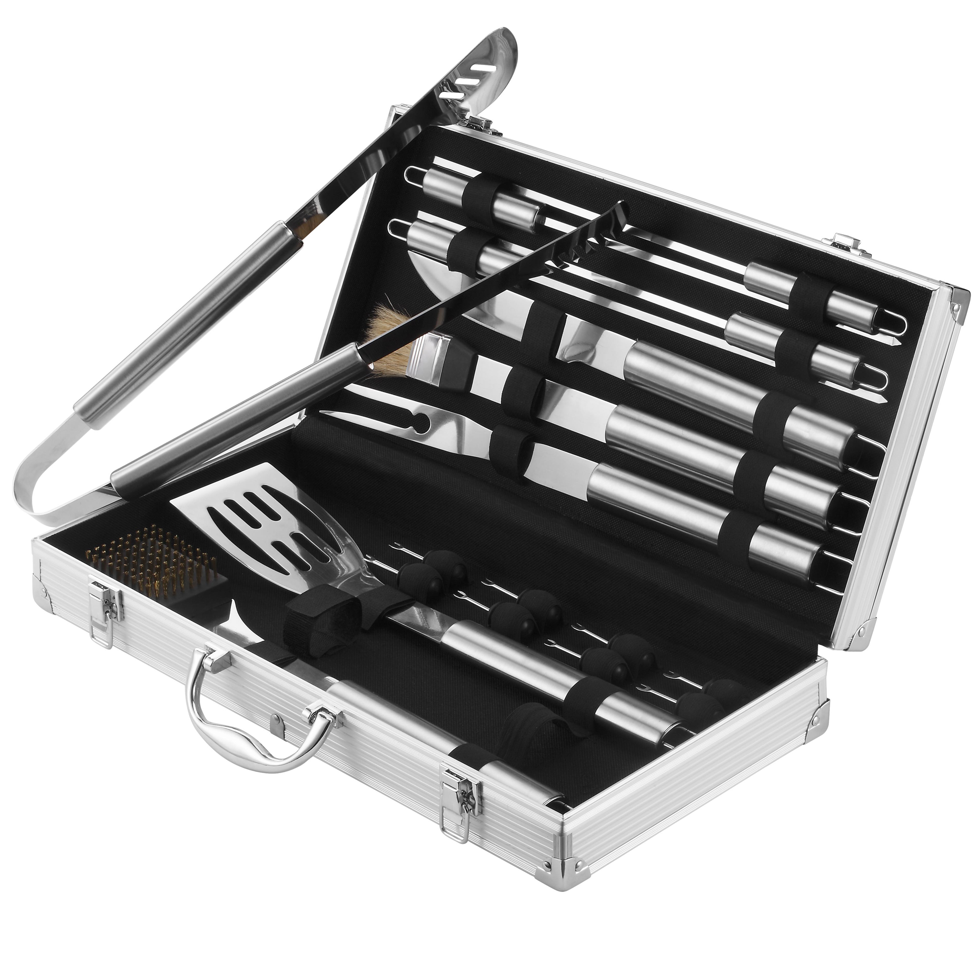Details About Vonhaus 18pc Stainless Steel Bbq Barbecue Grill Tool Set With Storage Case
