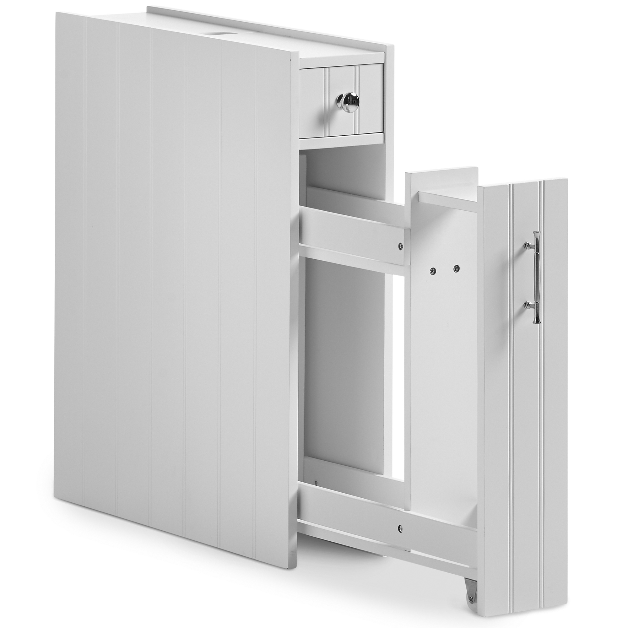 VonHaus Slimline Bathroom Storage Cabinet Unit with Drawer & Small ...