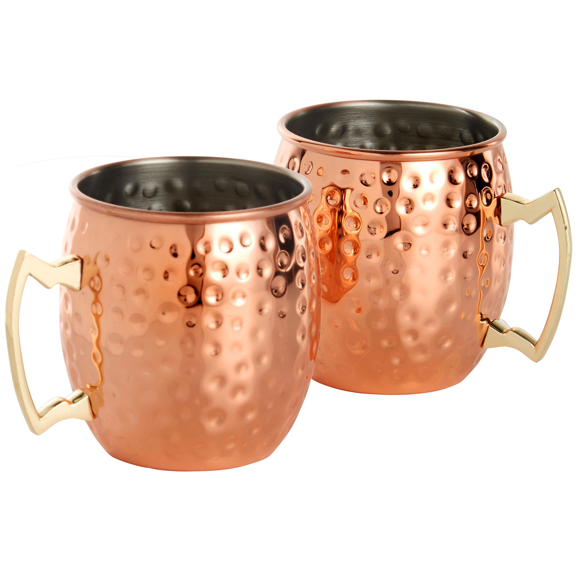 Sentinel Vonshef Set Of 2 Barrel Style Moscow Mule Mugs Copper Hammered