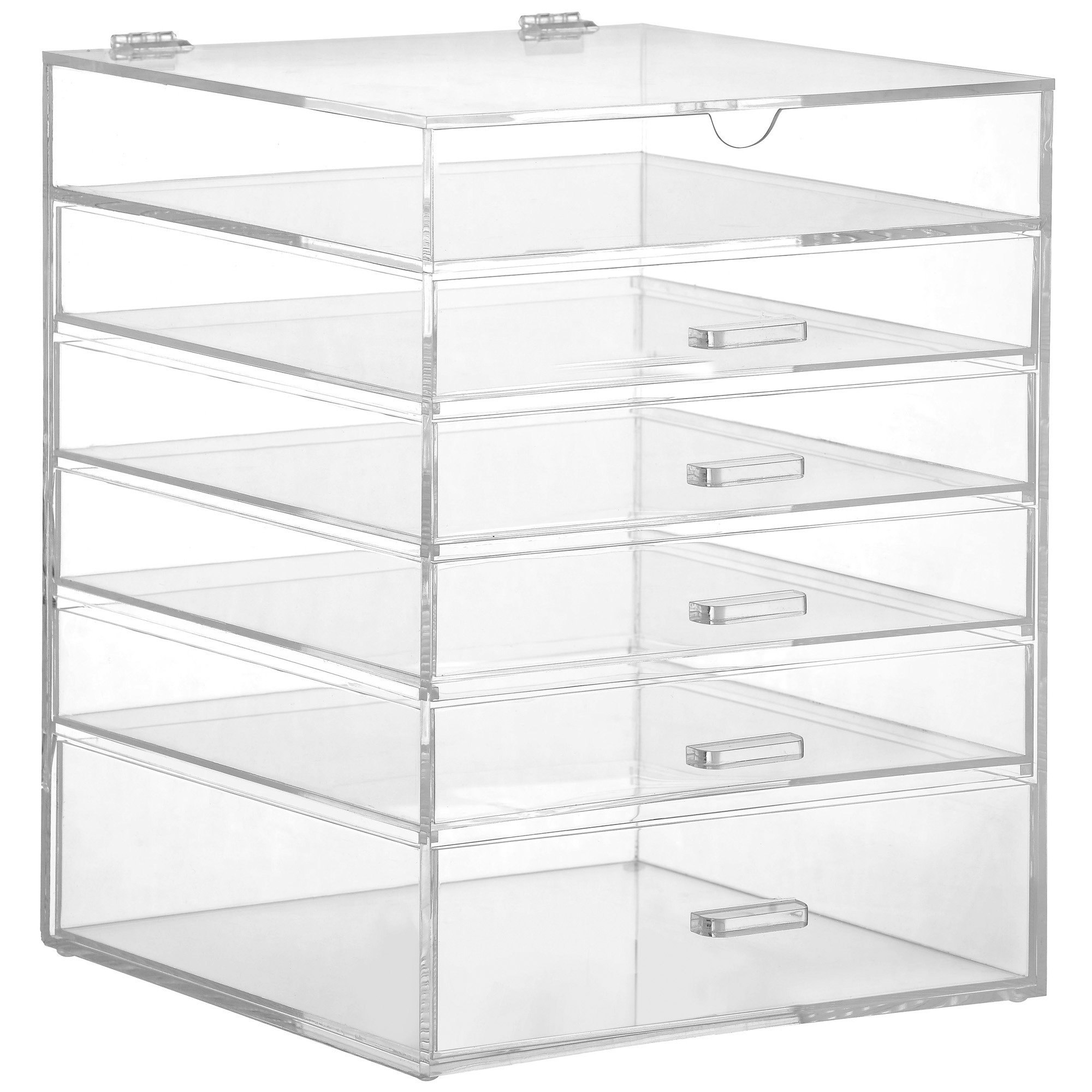 Sentinel Beautify Large 6 Tier Clear Acrylic Cosmetic Makeup Cube Organizer